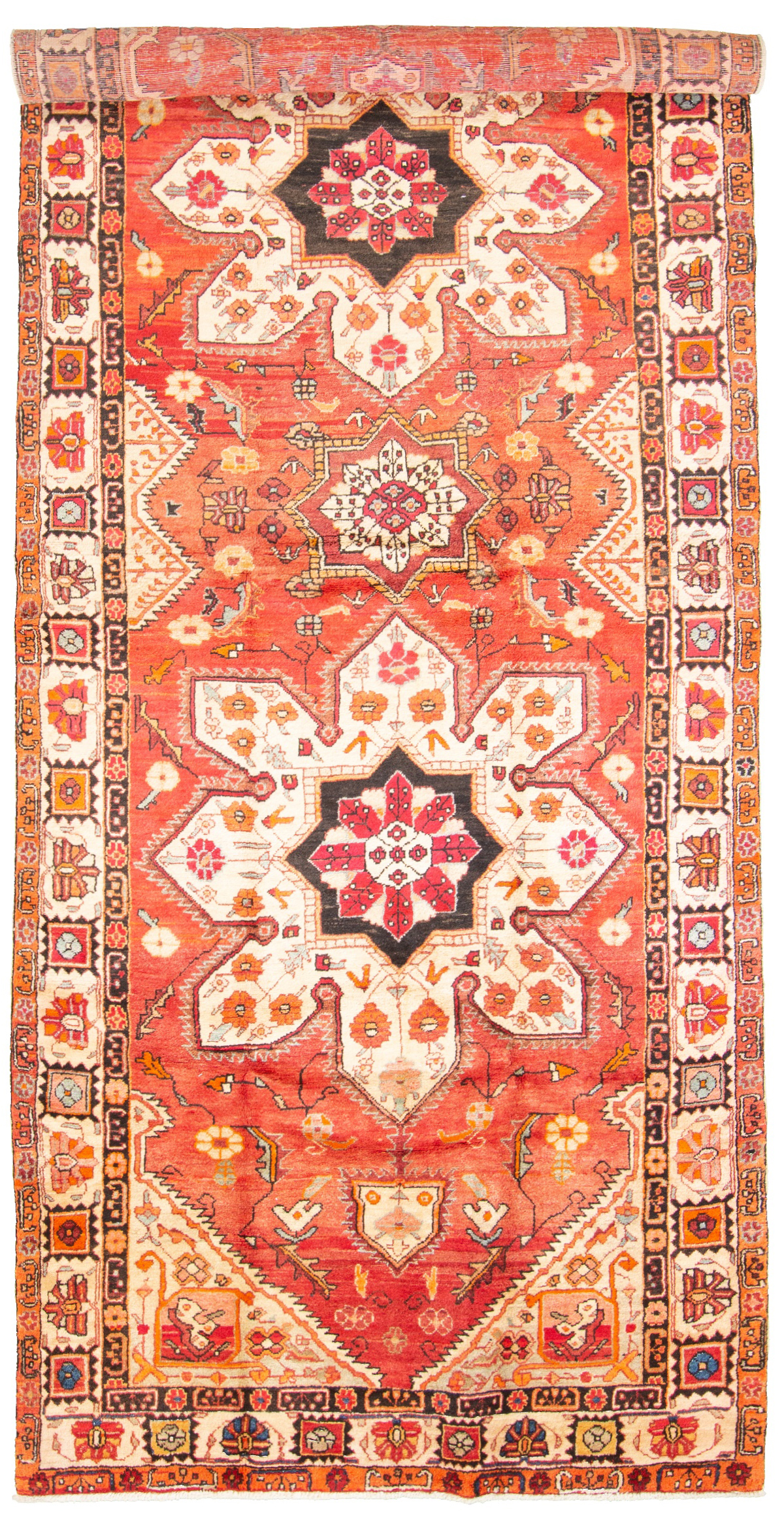 """Hand-knotted Ardabil  Wool Rug 5'1"""" x 12'6"""" Size: 5'1"""" x 12'6"""""""