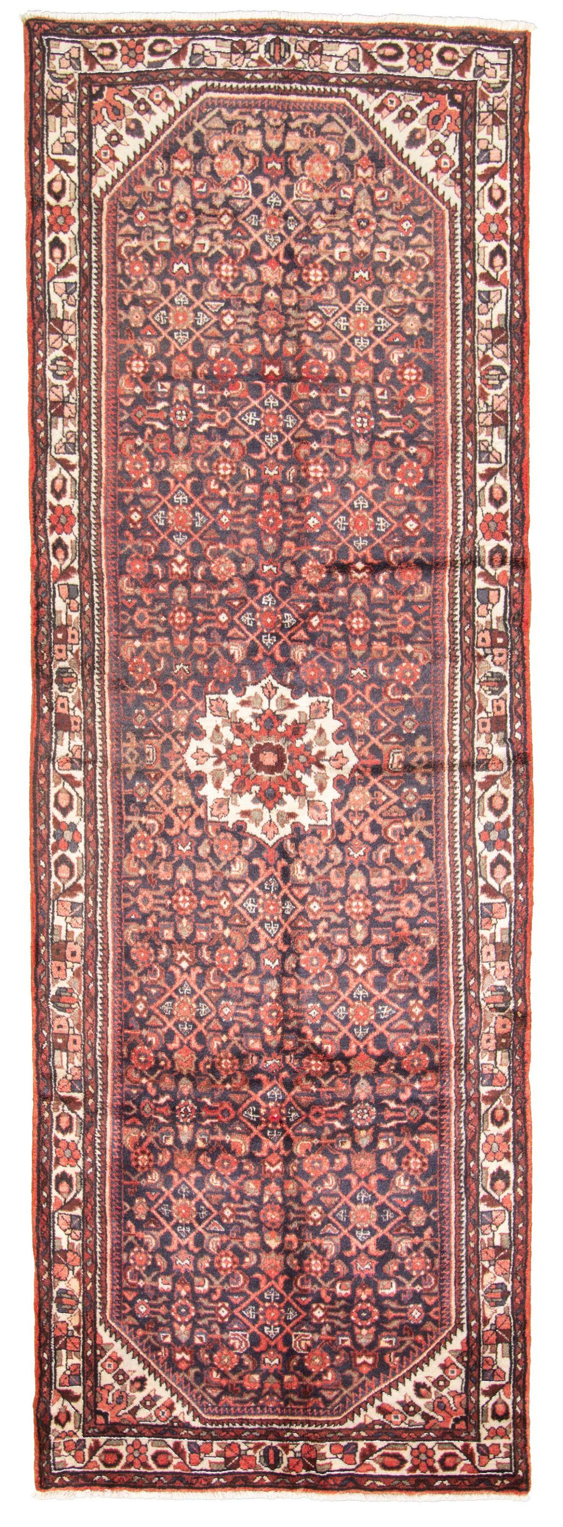 "Hand-knotted Hamadan  Wool Rug 3'9"" x 10'11"" Size: 3'9"" x 10'11"""