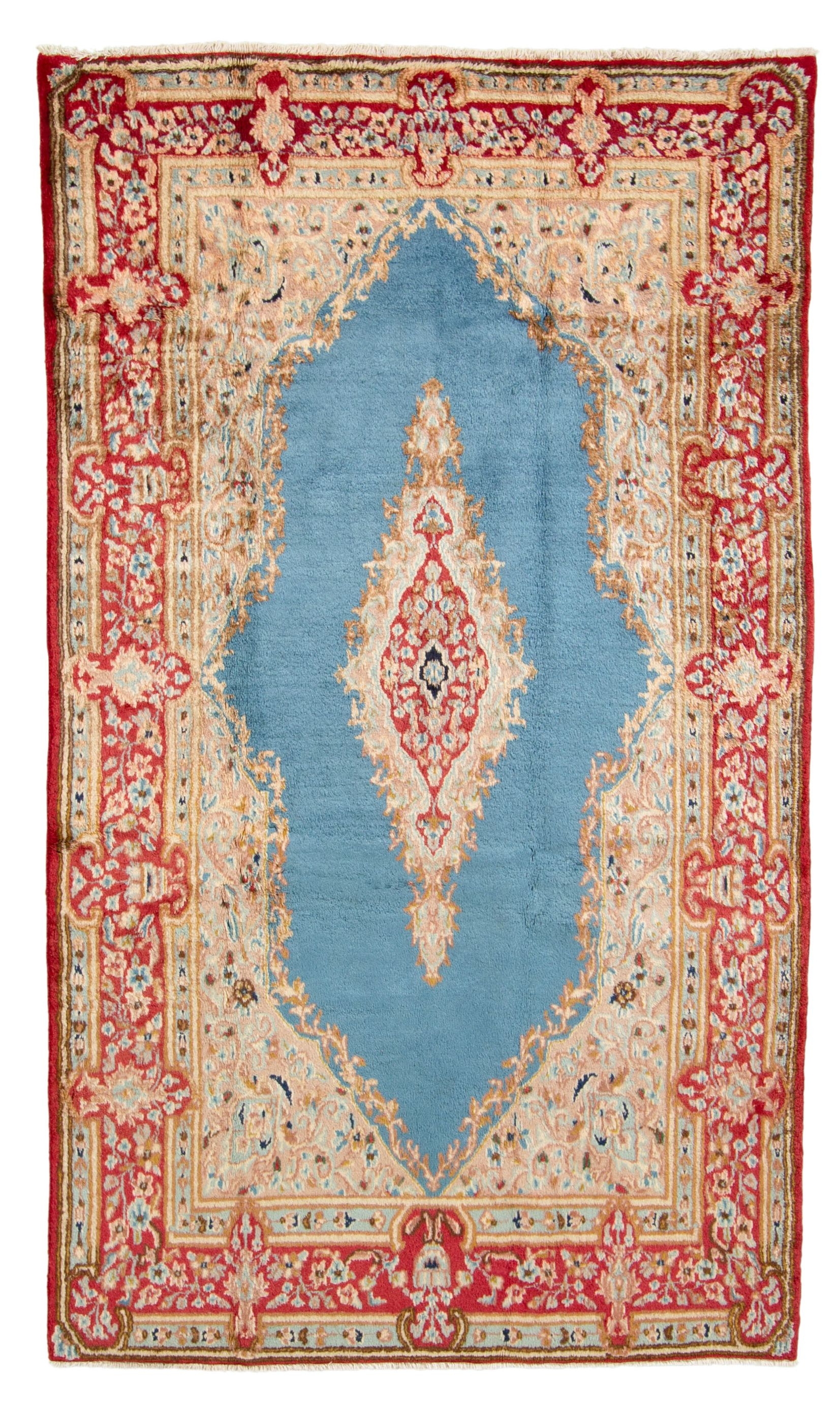 "Hand-knotted Kerman  Wool Rug 4'8"" x 8'0"" Size: 4'8"" x 8'0"""