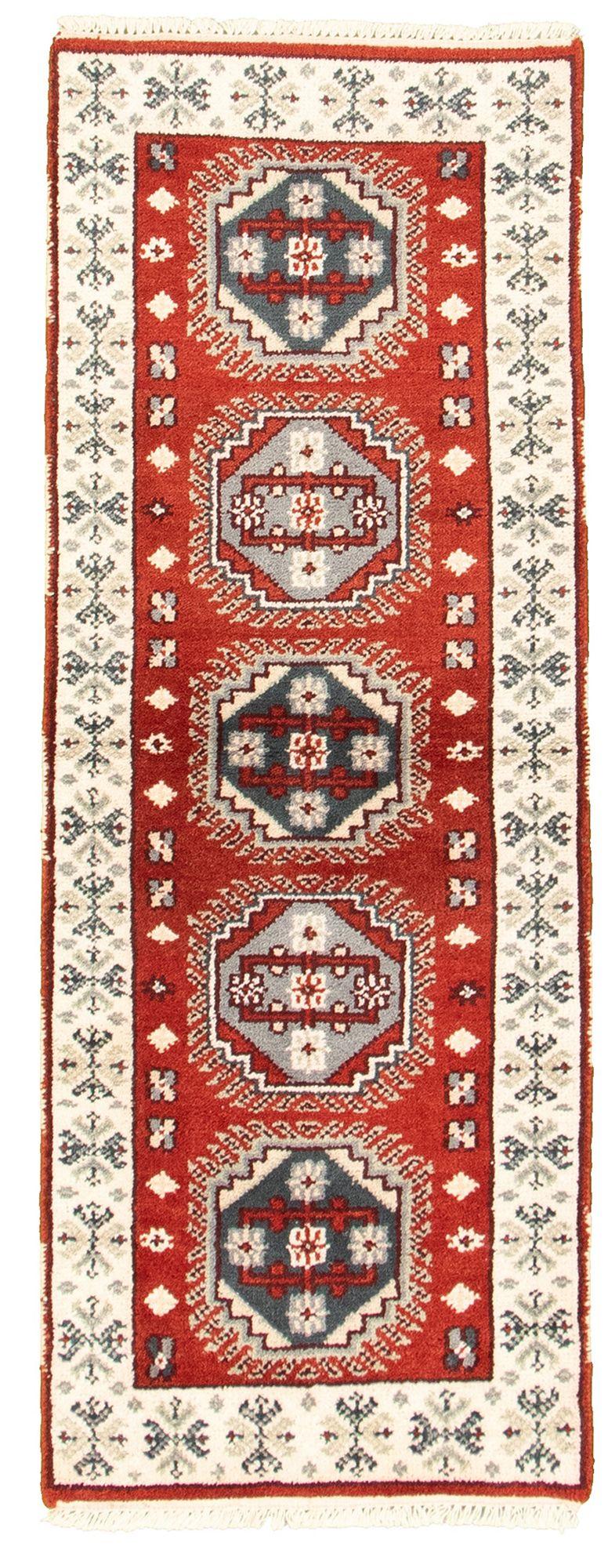 "Hand-knotted Kazak Royal IV Dark Copper Wool Rug 2'4"" x 6'0"" Size: 2'4"" x 6'0"""