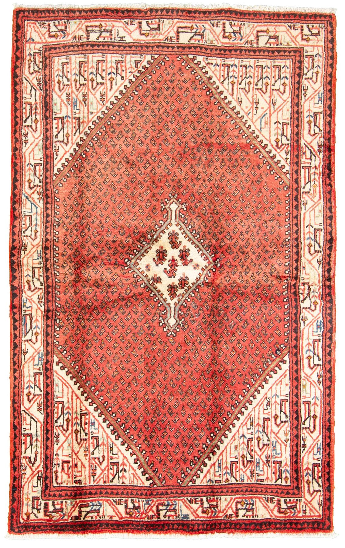 """Hand-knotted Arak  Wool Rug 4'3"""" x 6'10"""" Size: 4'3"""" x 6'10"""""""