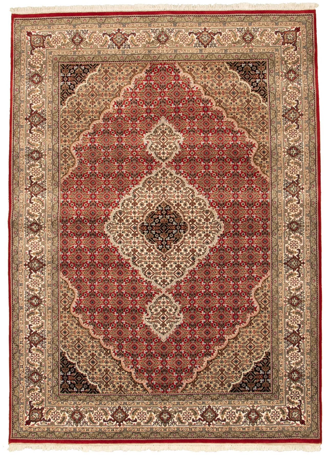 "Hand-knotted Tabriz Haj Jalili Red Wool Rug 5'9"" x 8'0"" Size: 5'9"" x 8'0"""