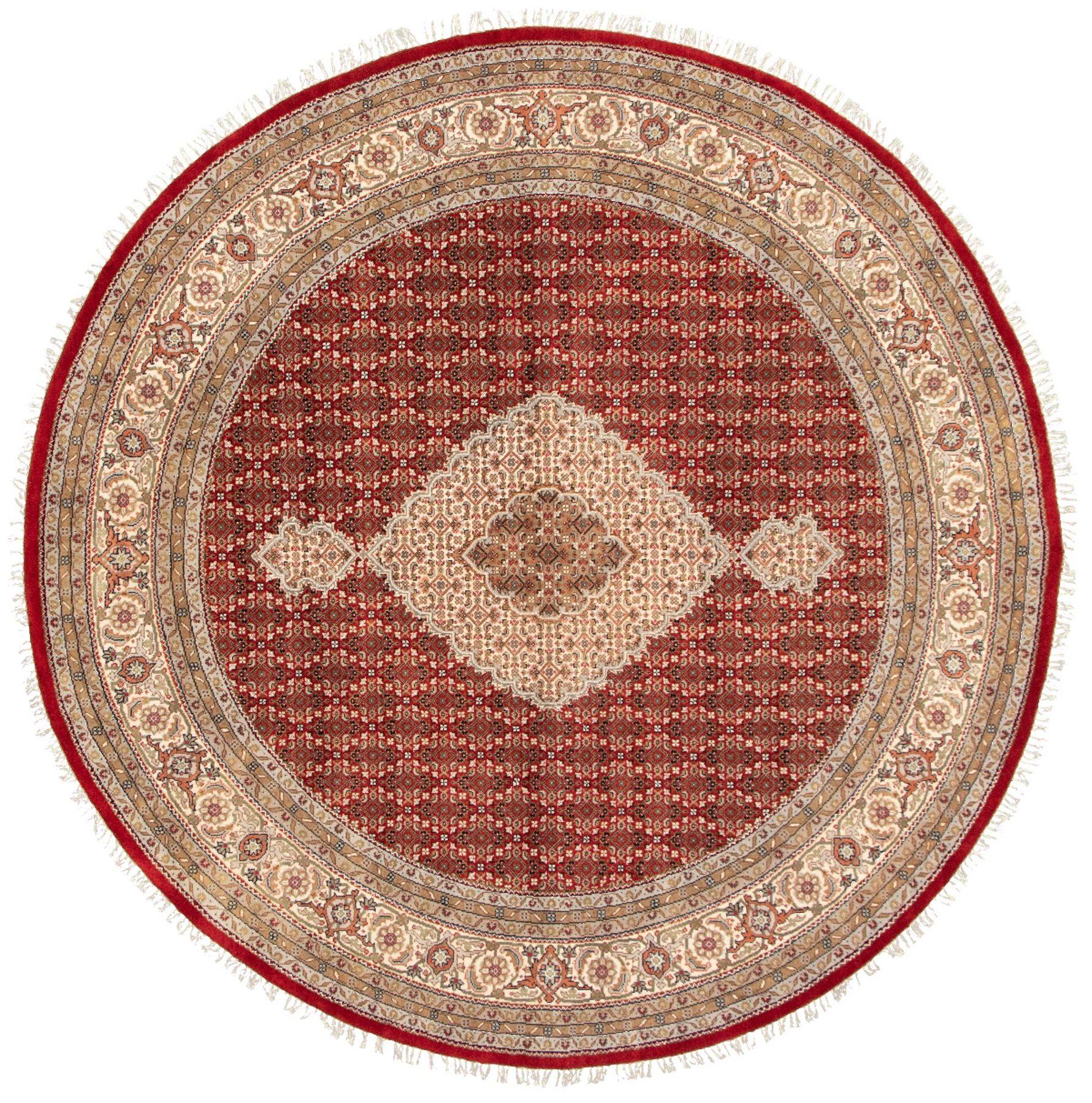 "Hand-knotted Tabriz Haj Jalili Red Wool Rug 8'4"" x 8'4"" Size: 8'4"" x 8'4"""