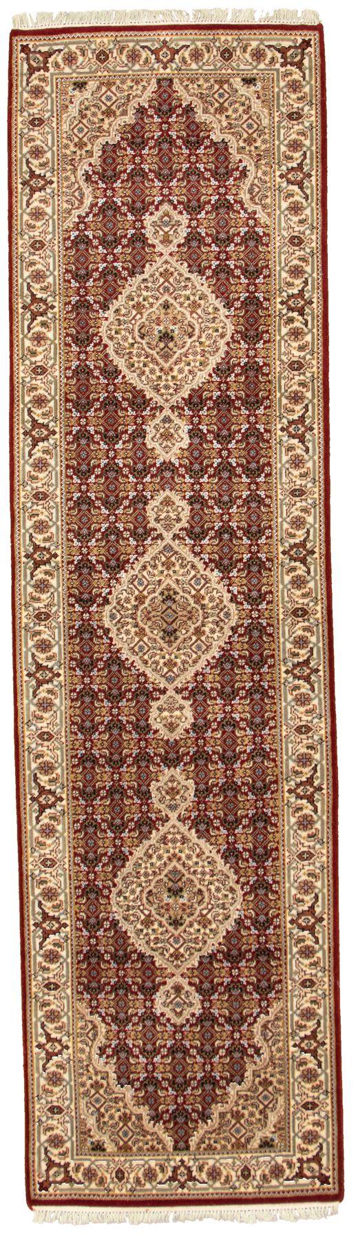 "Hand-knotted Tabriz Haj Jalili Red Wool Rug 2'8"" x 9'11"" Size: 2'8"" x 9'11"""