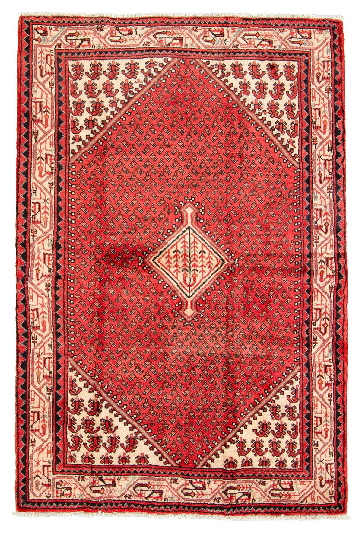 """Hand-knotted Arak  Wool Rug 4'3"""" x 6'8"""" Size: 4'3"""" x 6'8"""""""