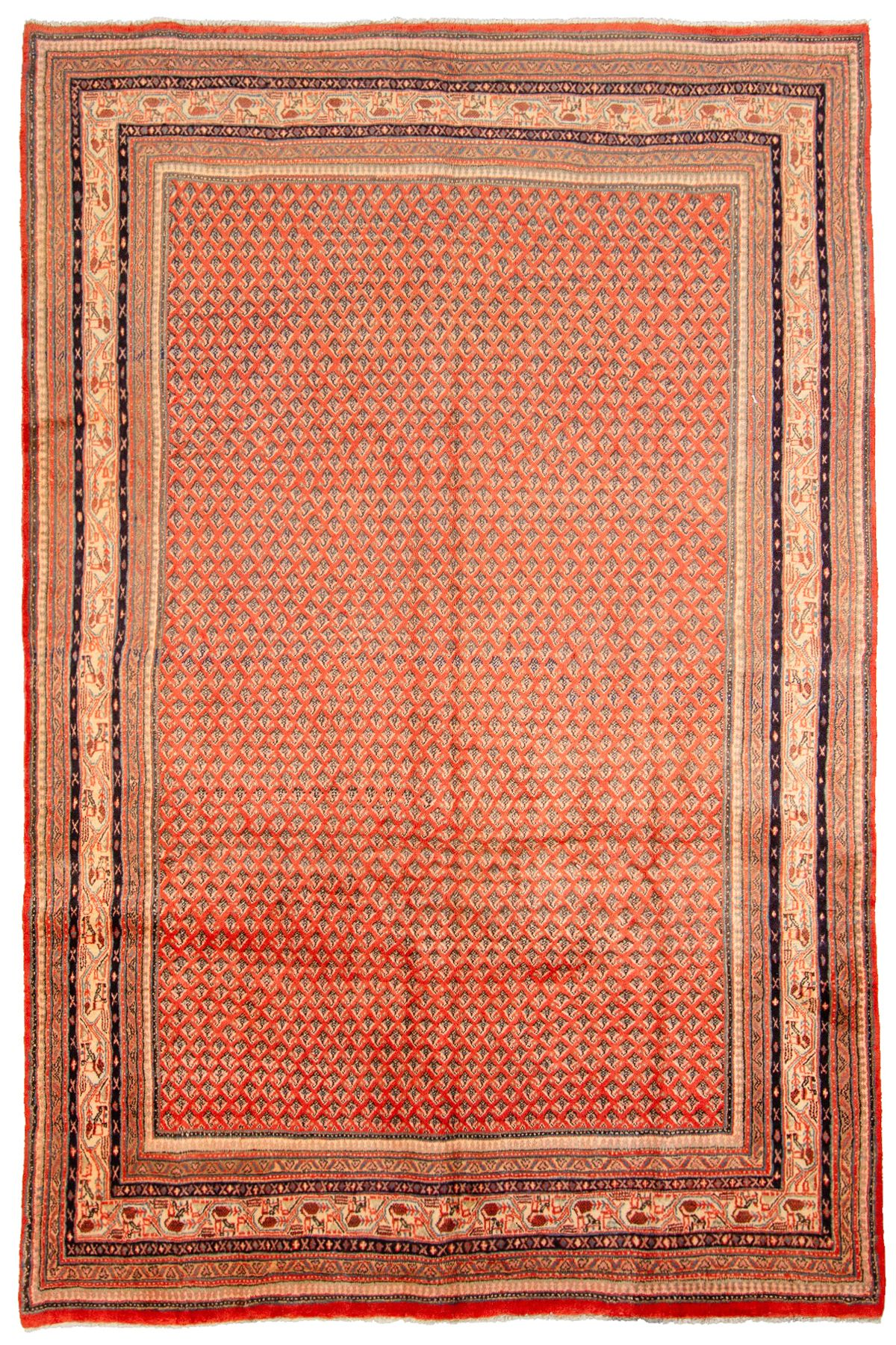 """Hand-knotted Arak  Wool Rug 6'9"""" x 10'1"""" Size: 6'9"""" x 10'1"""""""