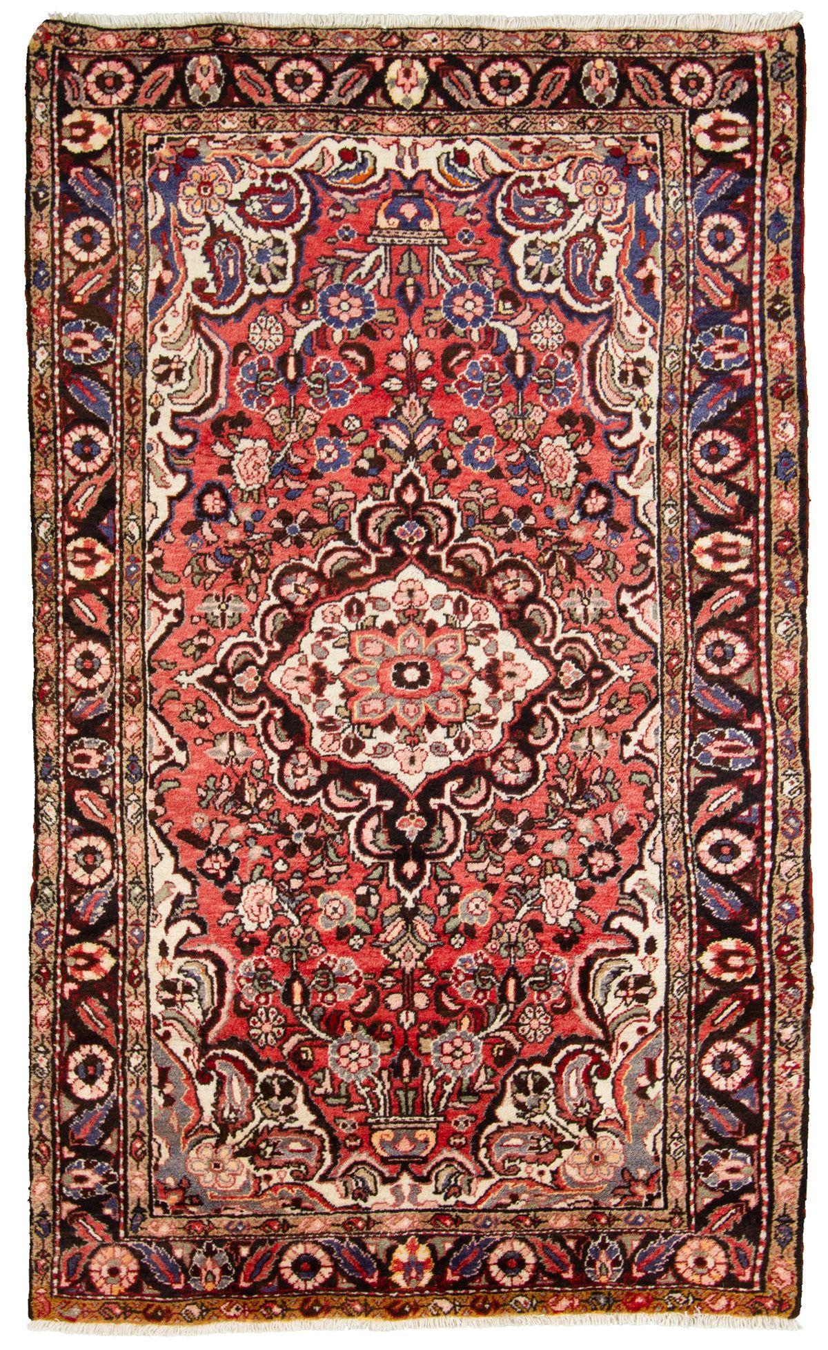 "Hand-knotted Hamadan  Wool Rug 4'9"" x 8'0"" Size: 4'9"" x 8'0"""