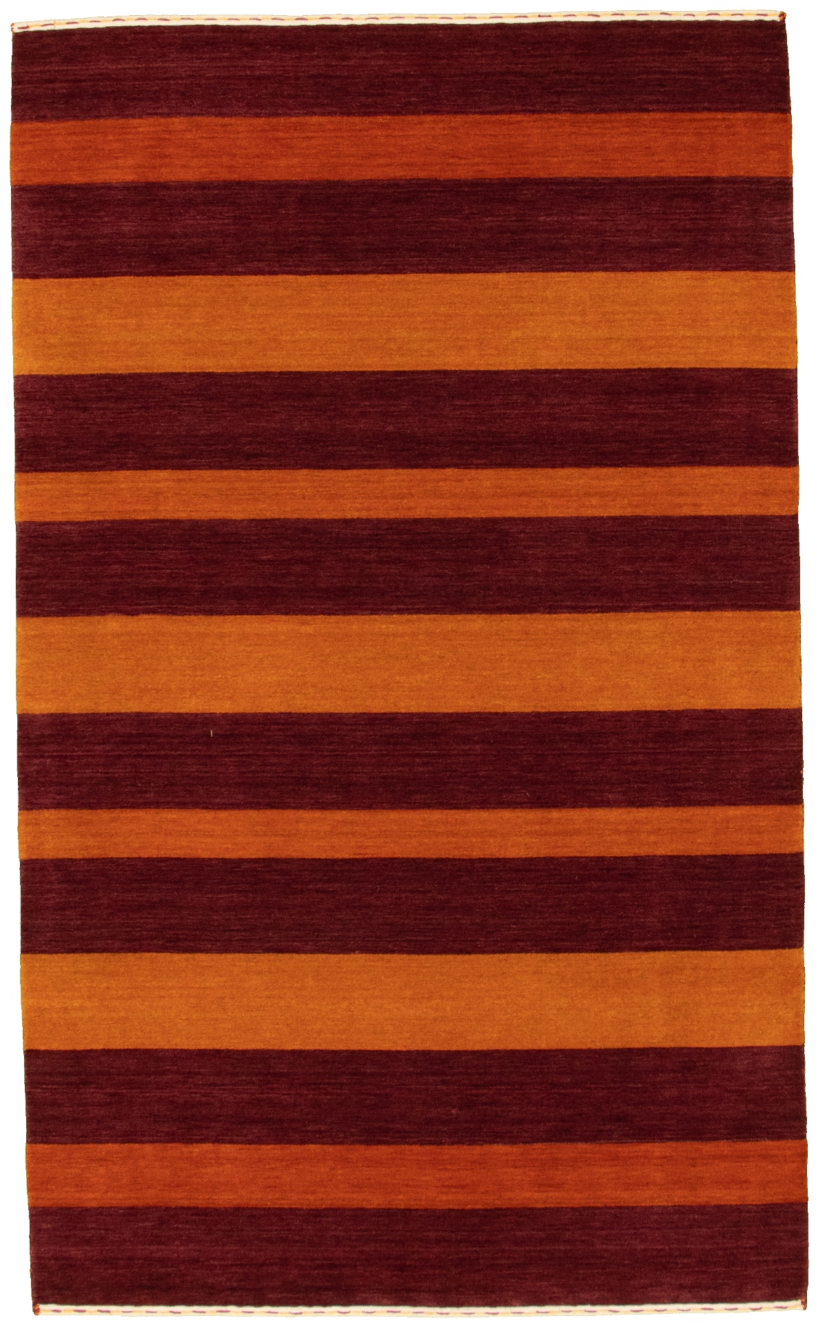 "Hand-knotted Kashkuli Gabbeh Burgundy, Burnt Orange Wool Rug 4'10"" x 8'0"" Size: 4'10"" x 8'0"""