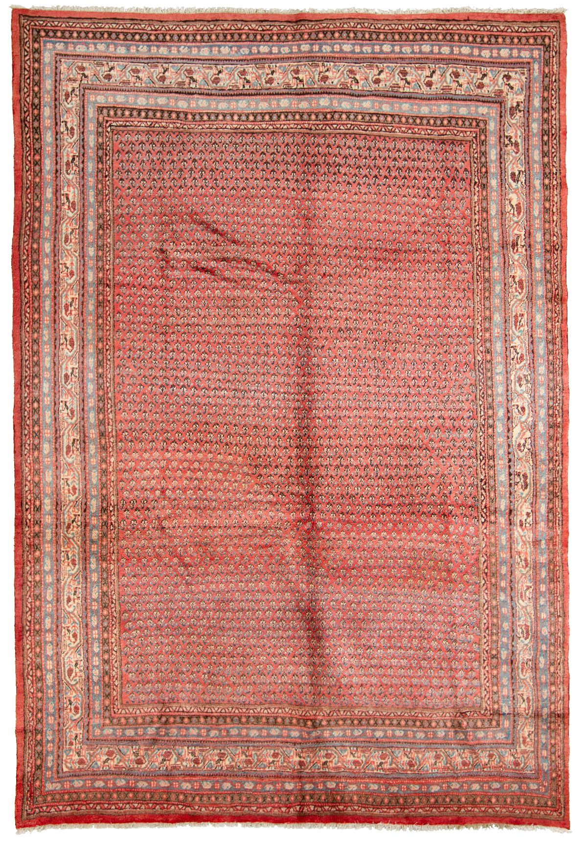 """Hand-knotted Arak  Wool Rug 7'1"""" x 10'2"""" Size: 7'1"""" x 10'2"""""""