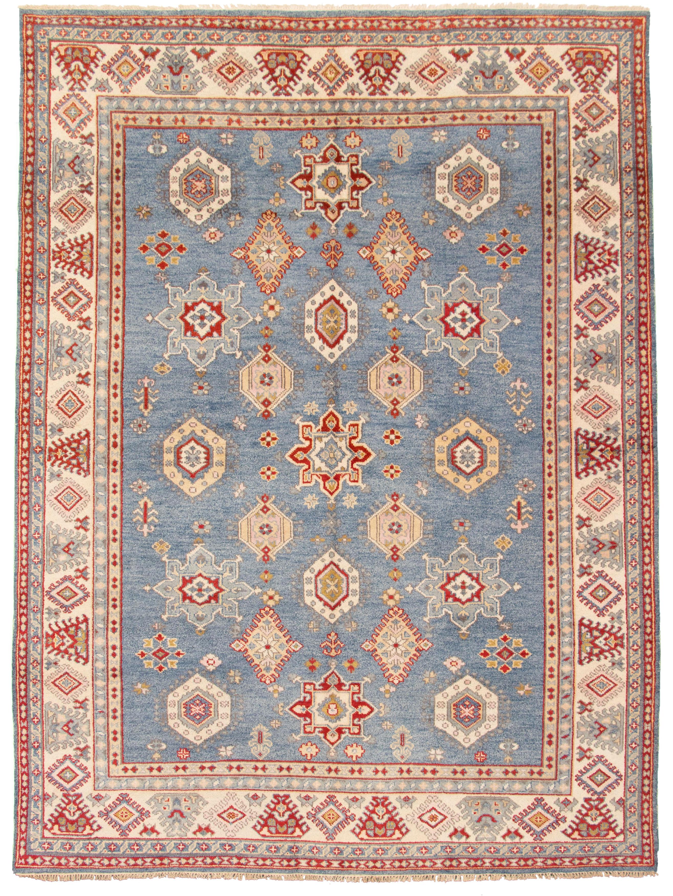 "Hand-knotted Royal Kazak Dark Blue Wool Rug 8'10"" x 11'10"" Size: 8'10"" x 11'10"""