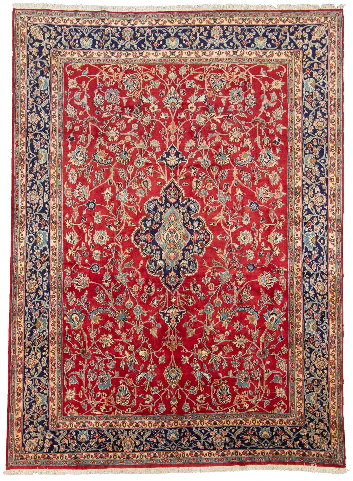 "Hand-knotted Kerman  Wool Rug 8'11"" x 12'3"" Size: 8'11"" x 12'3"""