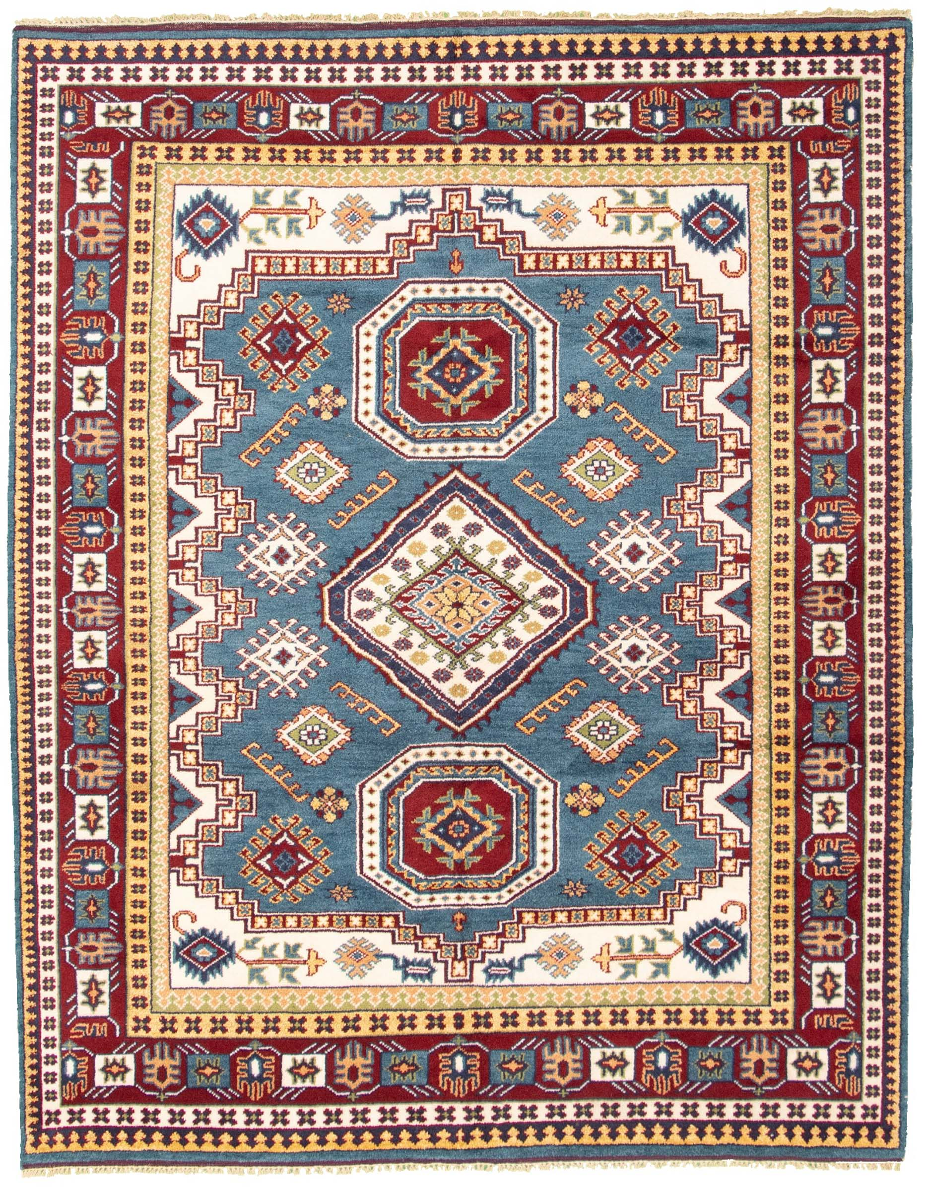 "Hand-knotted Royal Kazak Dark Blue Wool Rug 7'11"" x 9'11"" Size: 7'11"" x 9'11"""