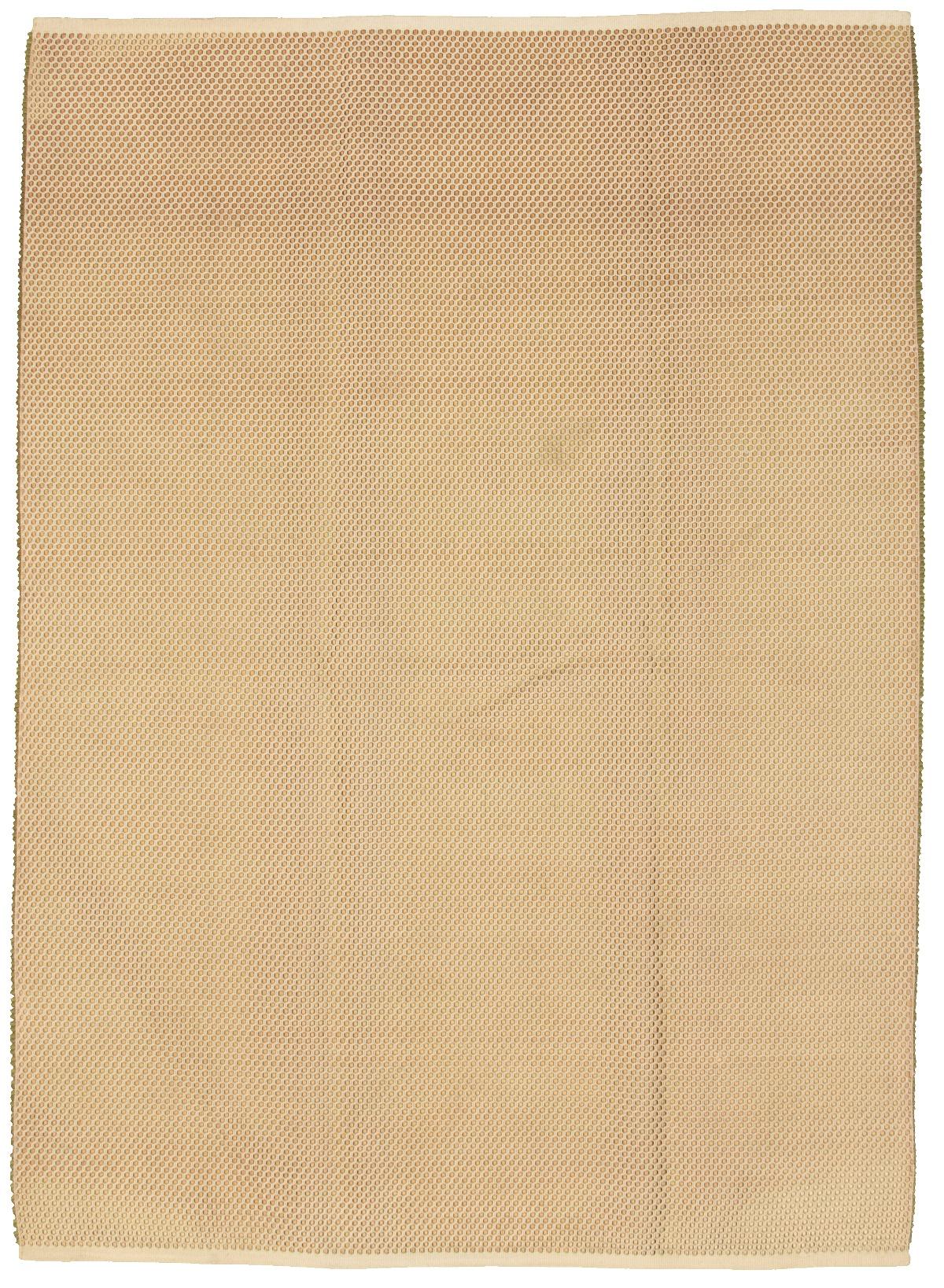 "Handmade Honeycomb III Light Gold Cotton/Polyester Rug 8'0"" x 11'6"" Size: 8'0"" x 11'6"""