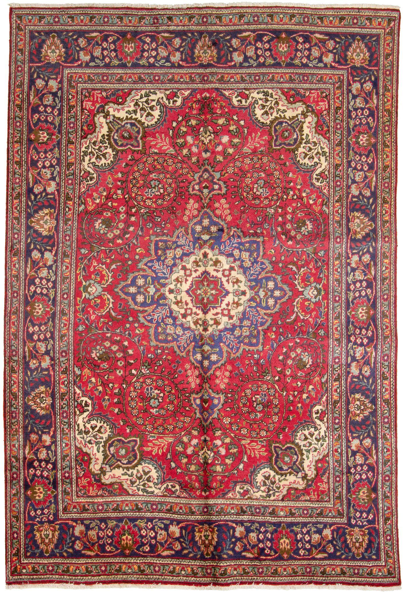 "Hand-knotted>Iran>Tabriz  Size: 6'8"" x 9'9"""