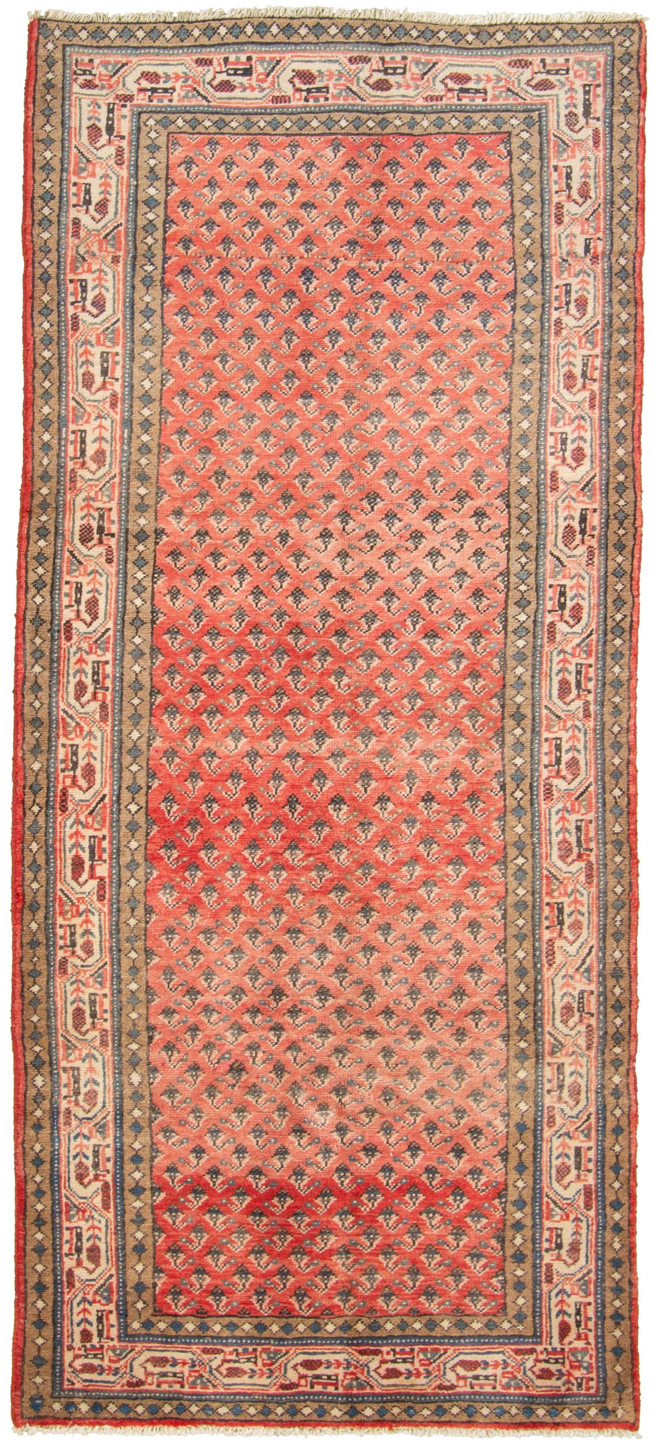 """Hand-knotted Arak Wool Rug 3'5"""" x 8'4"""" Size: 3'5"""" x 8'4"""""""