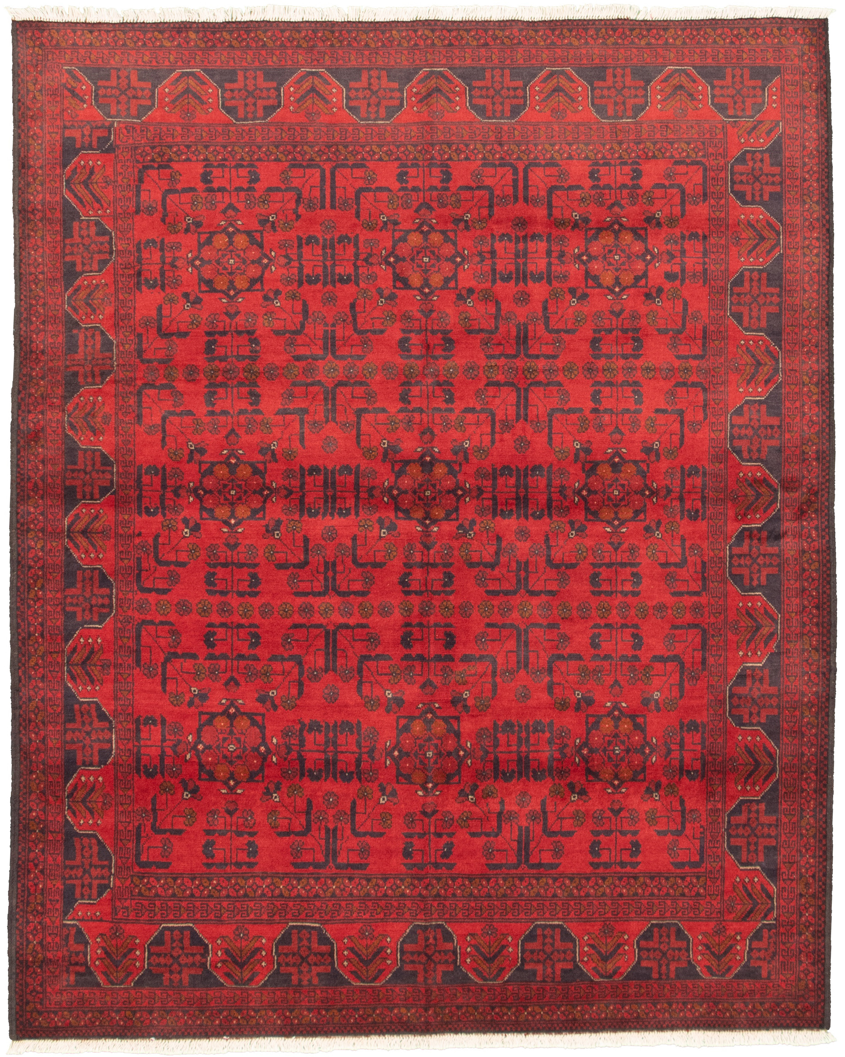 "Hand-knotted Finest Khal Mohammadi Red Wool Rug 5'10"" x 7'4""  Size: 5'10"" x 7'4"""