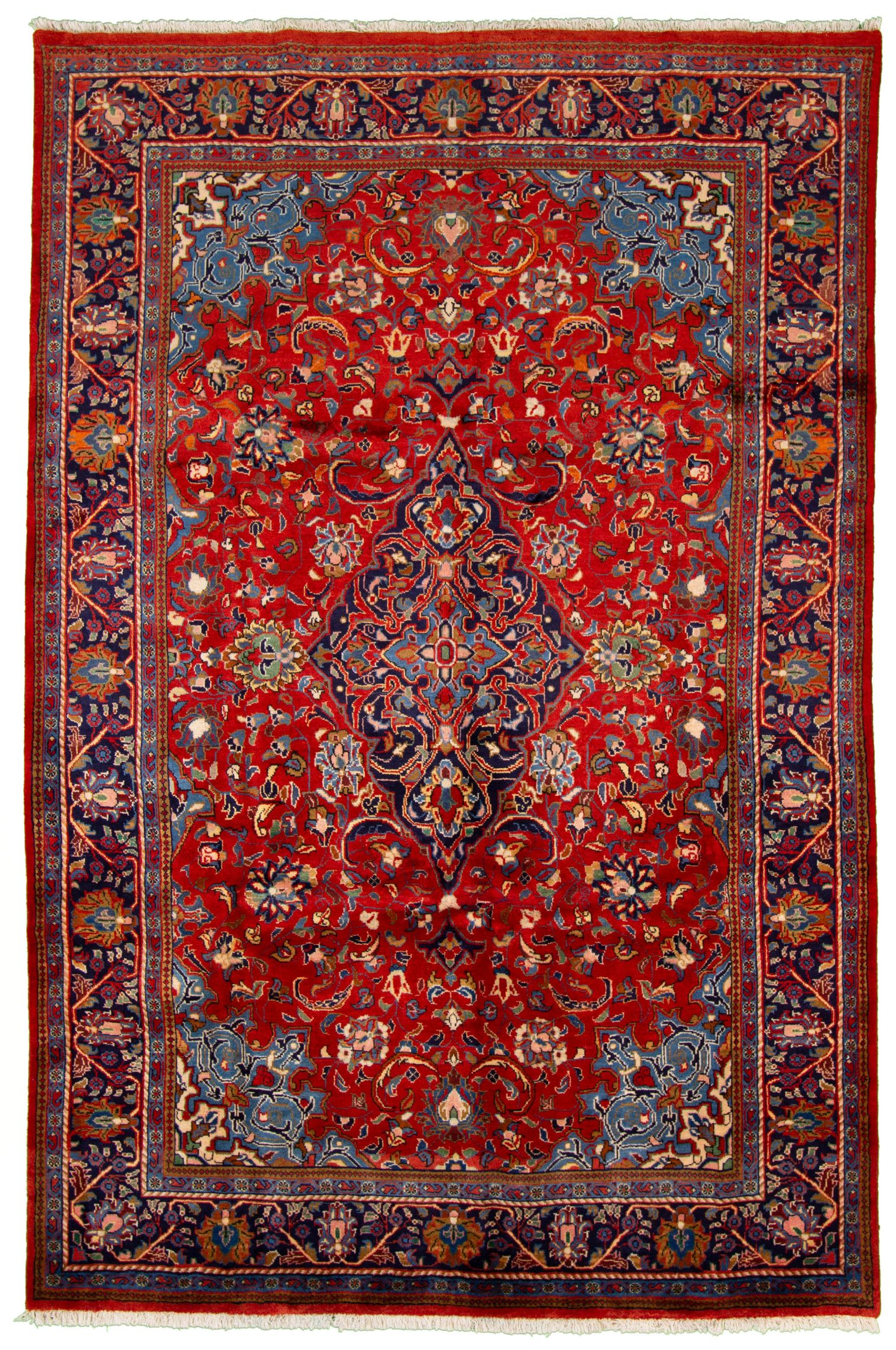 """Hand-knotted Arak  Wool Rug 6'11"""" x 10'2""""  Size: 6'11"""" x 10'2"""""""