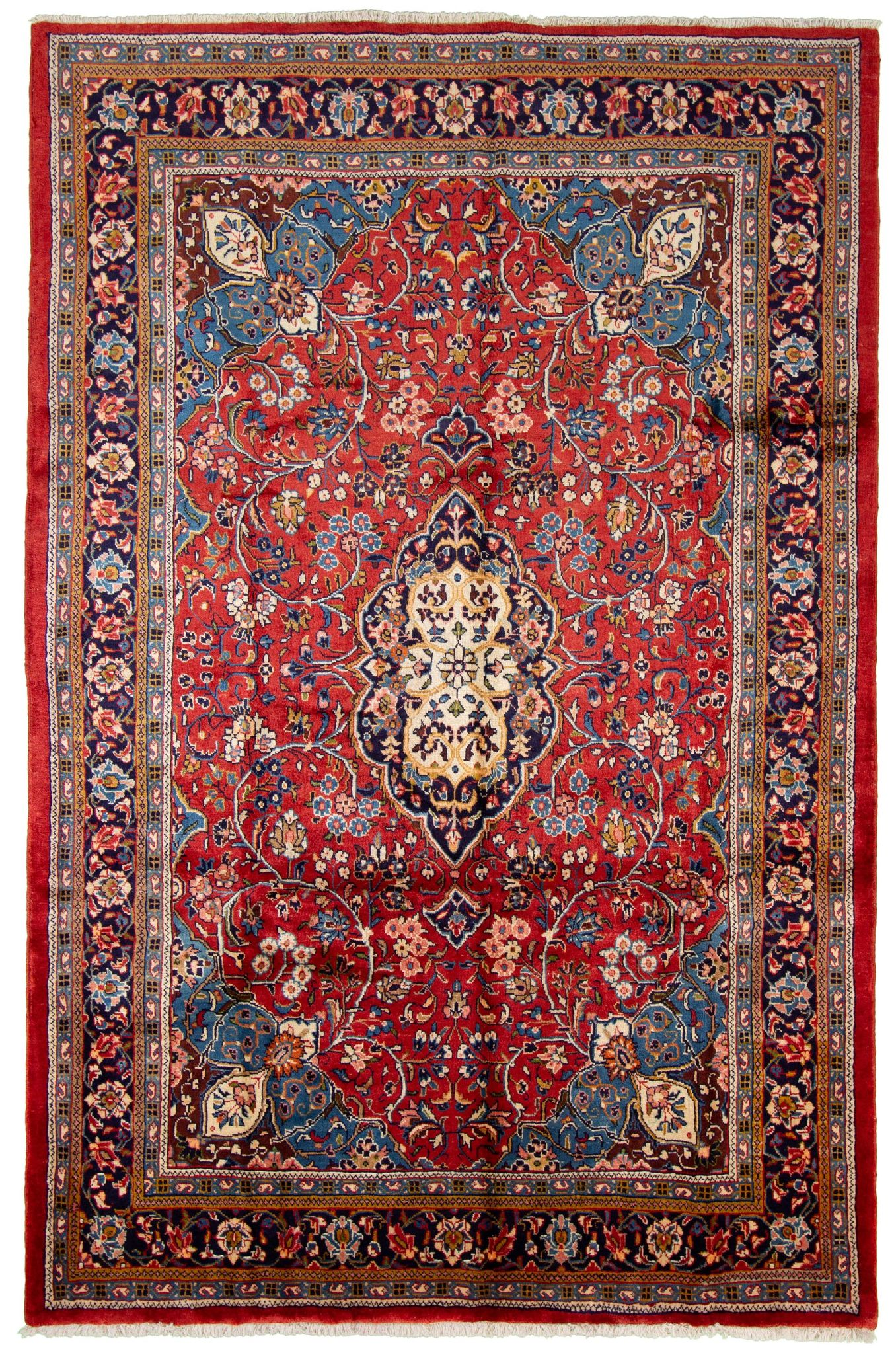 """Hand-knotted Arak  Wool Rug 7'1"""" x 10'8"""" Size: 7'1"""" x 10'8"""""""