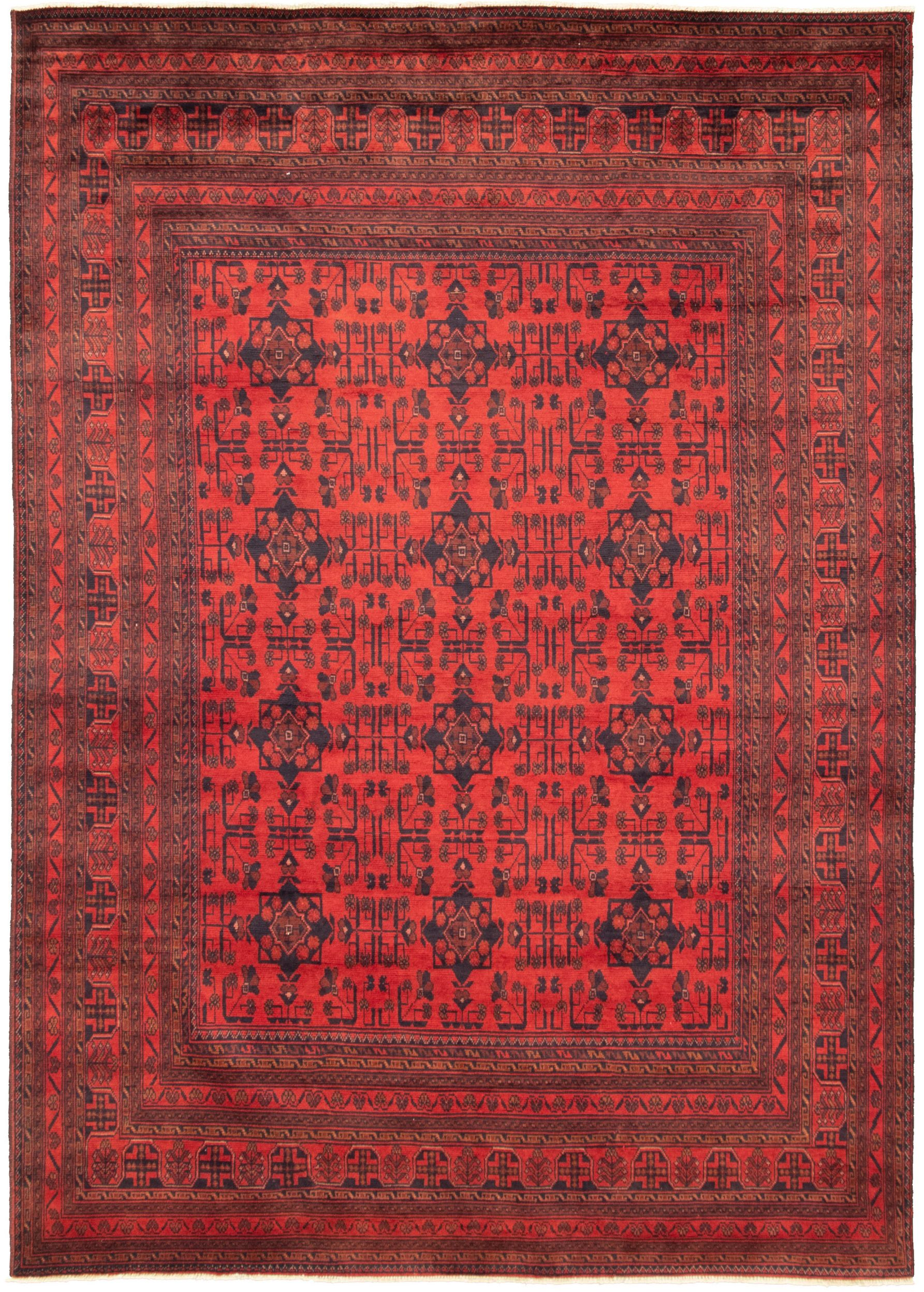 """Hand-knotted Finest Khal Mohammadi Red  Rug 6'9"""" x 9'6"""" Size: 6'9"""" x 9'6"""""""