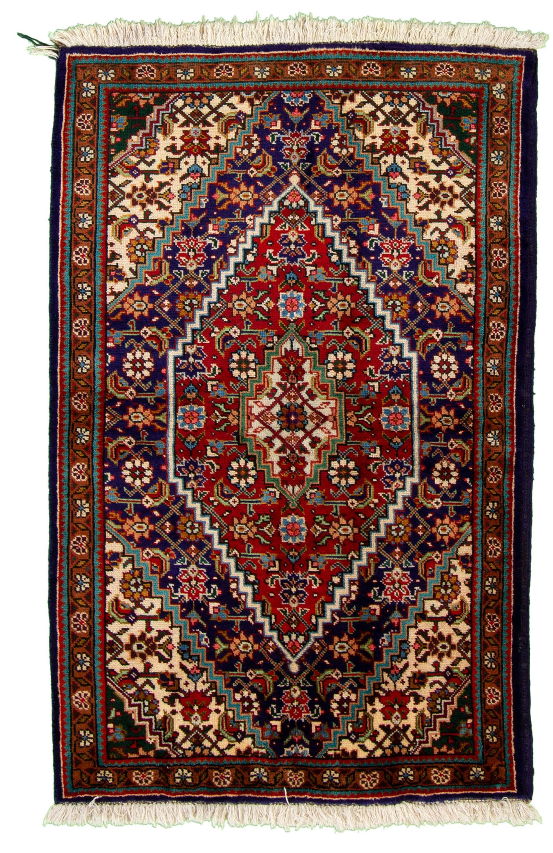 """Hand-knotted Tabriz  Wool Rug 3'9"""" x 5'4"""" Size: 3'9"""" x 5'4"""""""