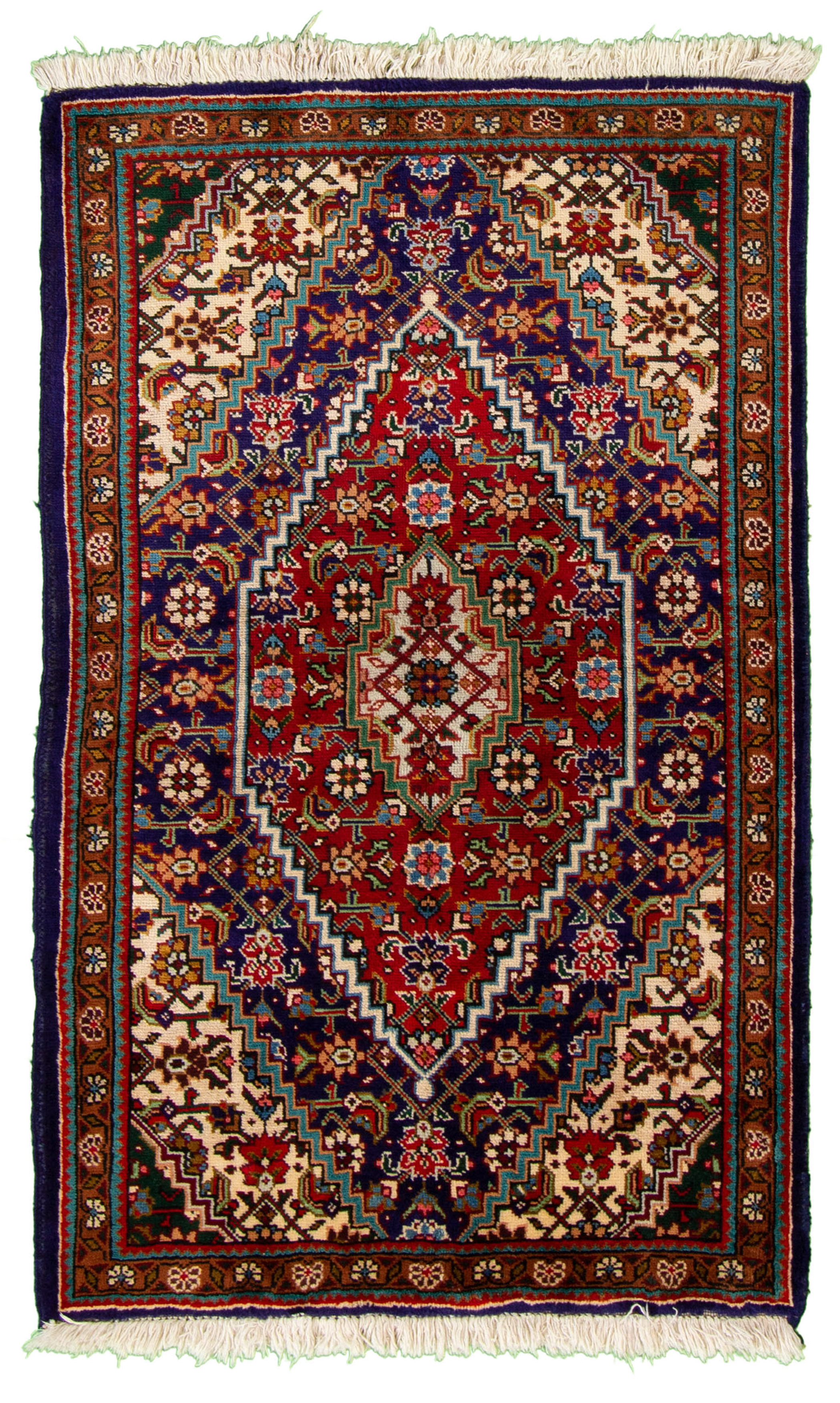 """Hand-knotted Tabriz  Wool Rug 3'3"""" x 5'4"""" Size: 3'3"""" x 5'4"""""""