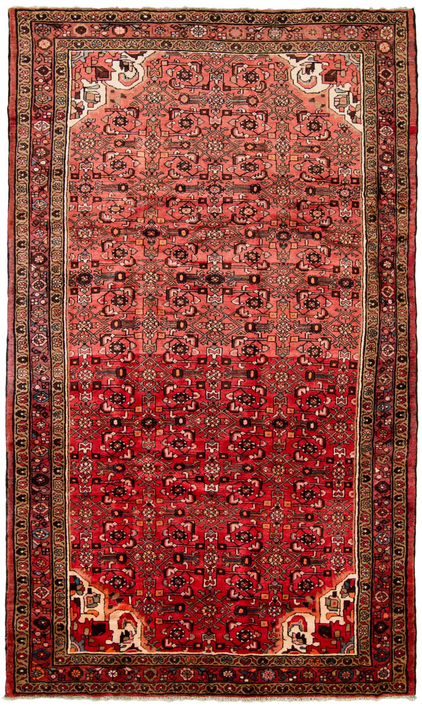 "Hand-knotted Hamadan  Wool Rug 5'9"" x 9'11"" Size: 5'9"" x 9'11"""