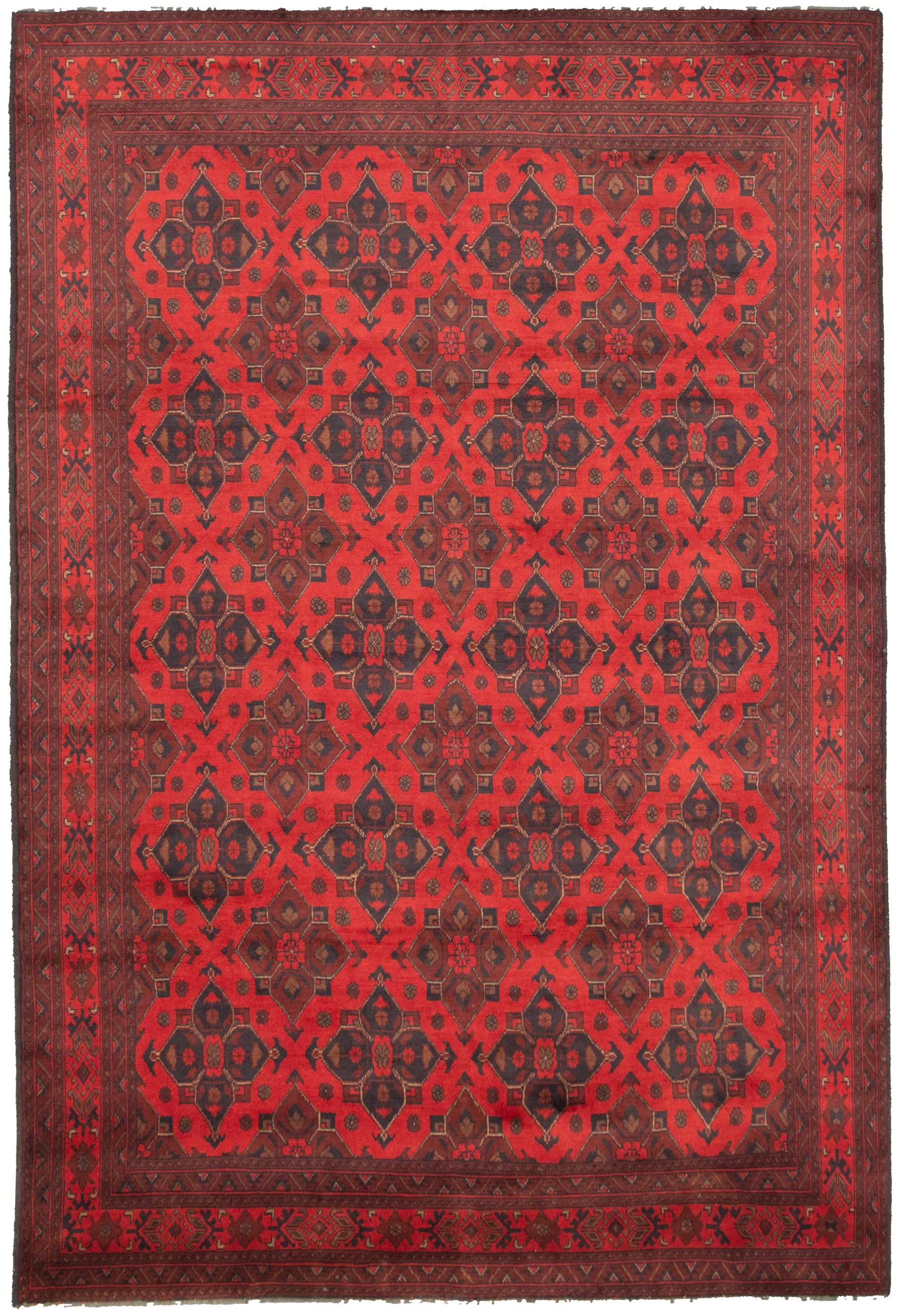 """Hand-knotted Finest Khal Mohammadi Red  Rug 6'6"""" x 9'8"""" Size: 6'6"""" x 9'8"""""""