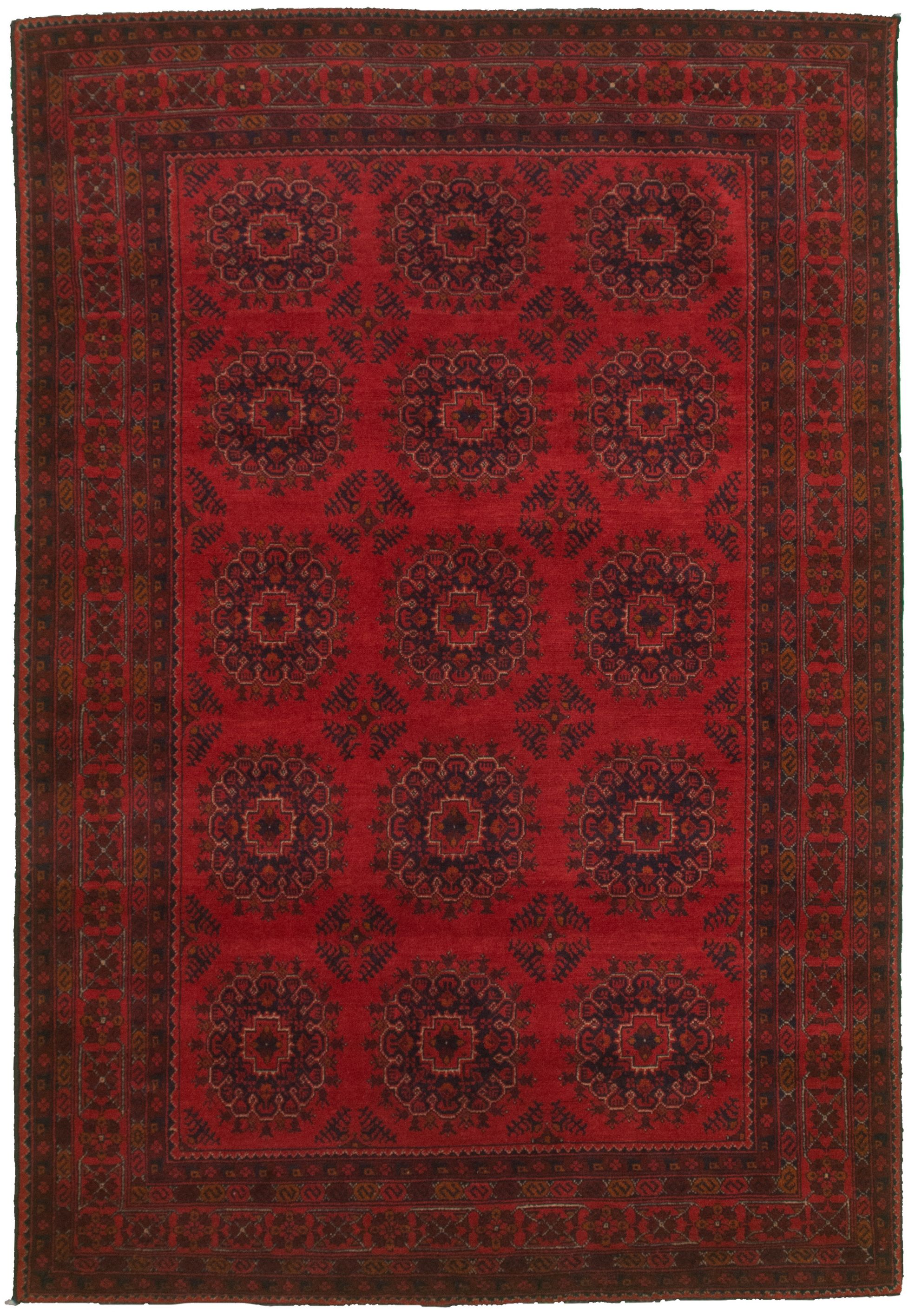 """Hand-knotted Finest Khal Mohammadi Red  Rug 5'4"""" x 8'0"""" Size: 5'4"""" x 8'0"""""""