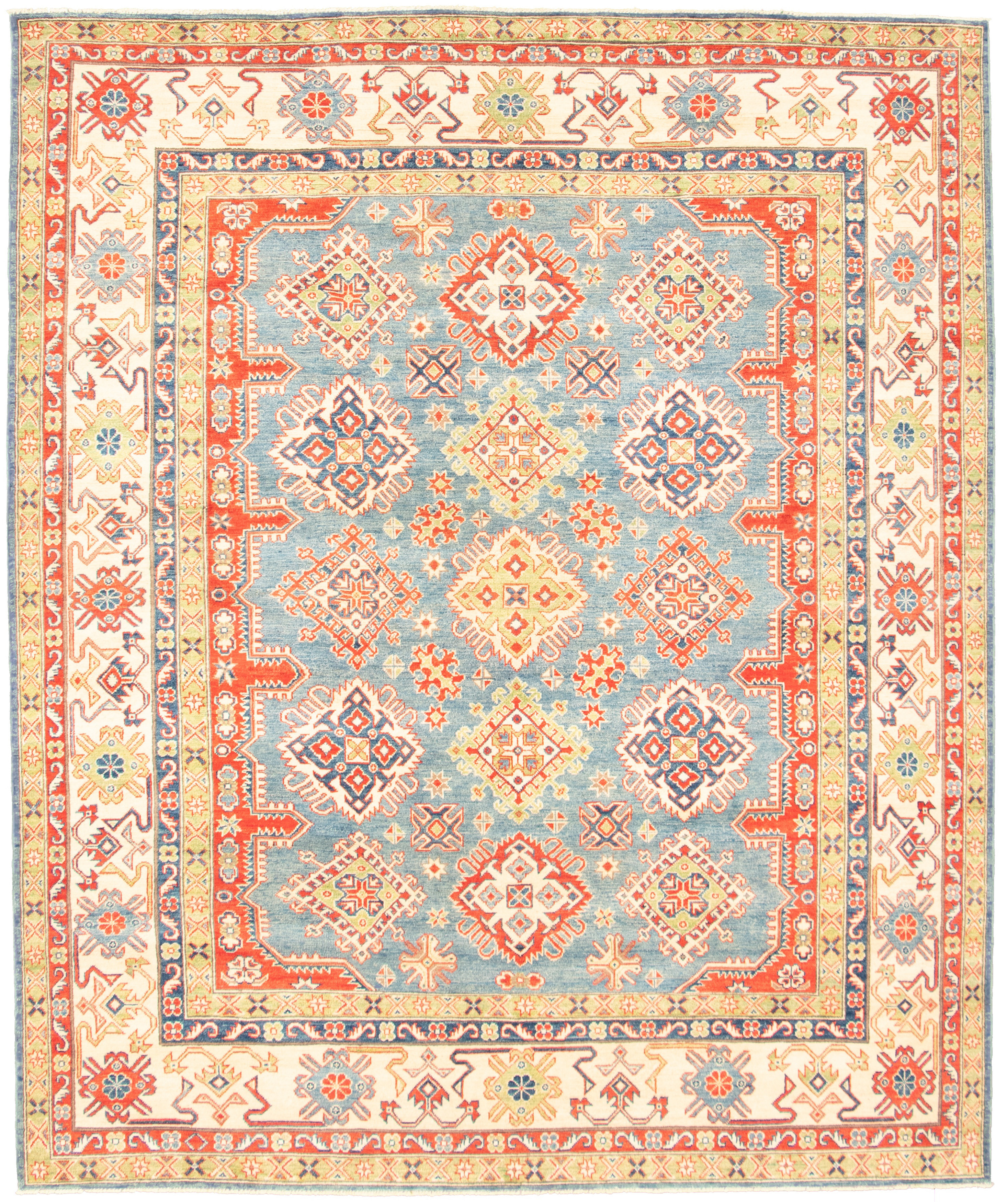 """Hand-knotted Finest Gazni Blue  Rug 7'11"""" x 9'7"""" Size: 7'11"""" x 9'7"""""""