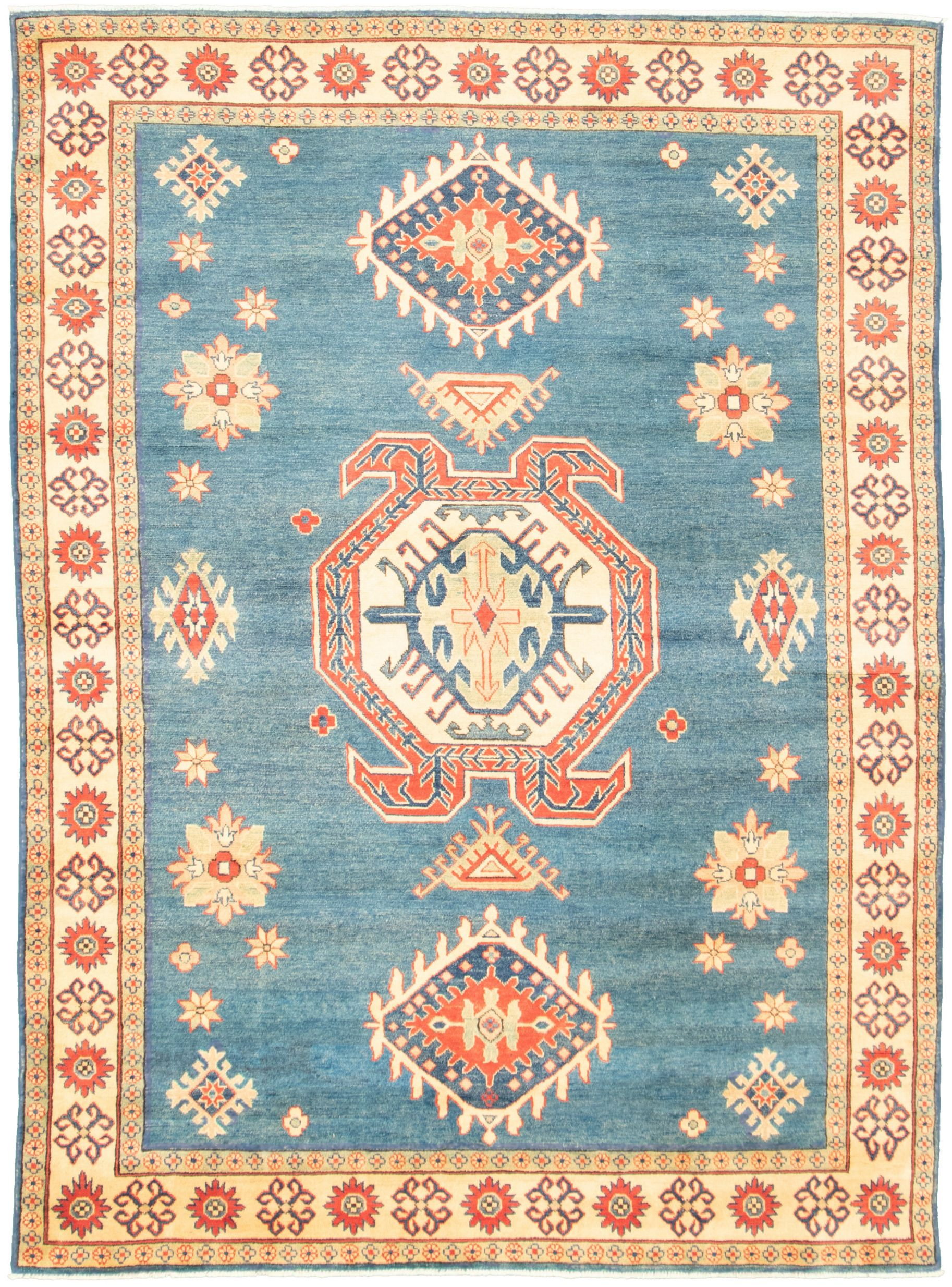"""Hand-knotted Finest Gazni Blue  Rug 6'6"""" x 8'11"""" Size: 6'6"""" x 8'11"""""""