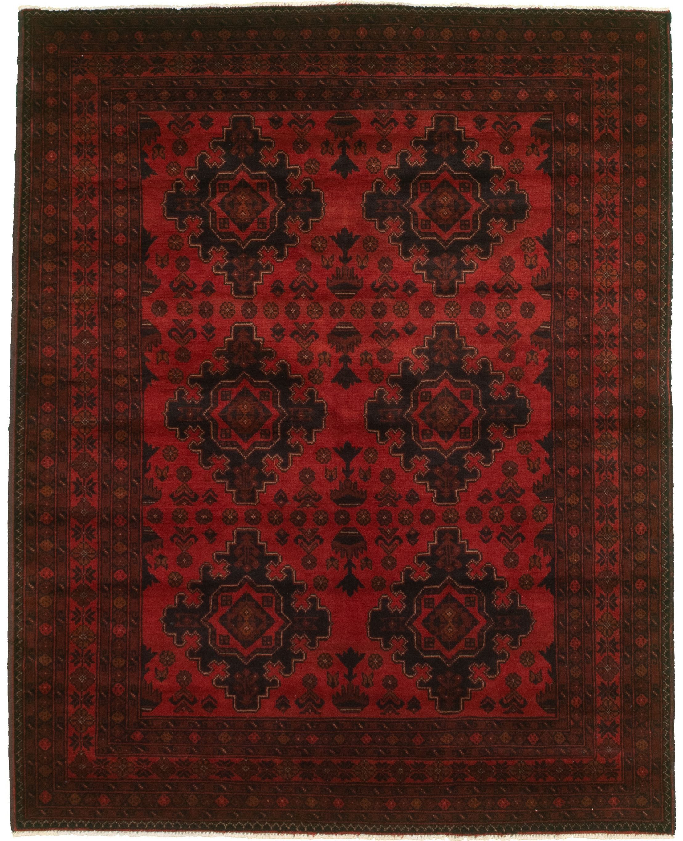 """Hand-knotted Finest Khal Mohammadi Red  Rug 5'0"""" x 6'5"""" Size: 5'0"""" x 6'5"""""""