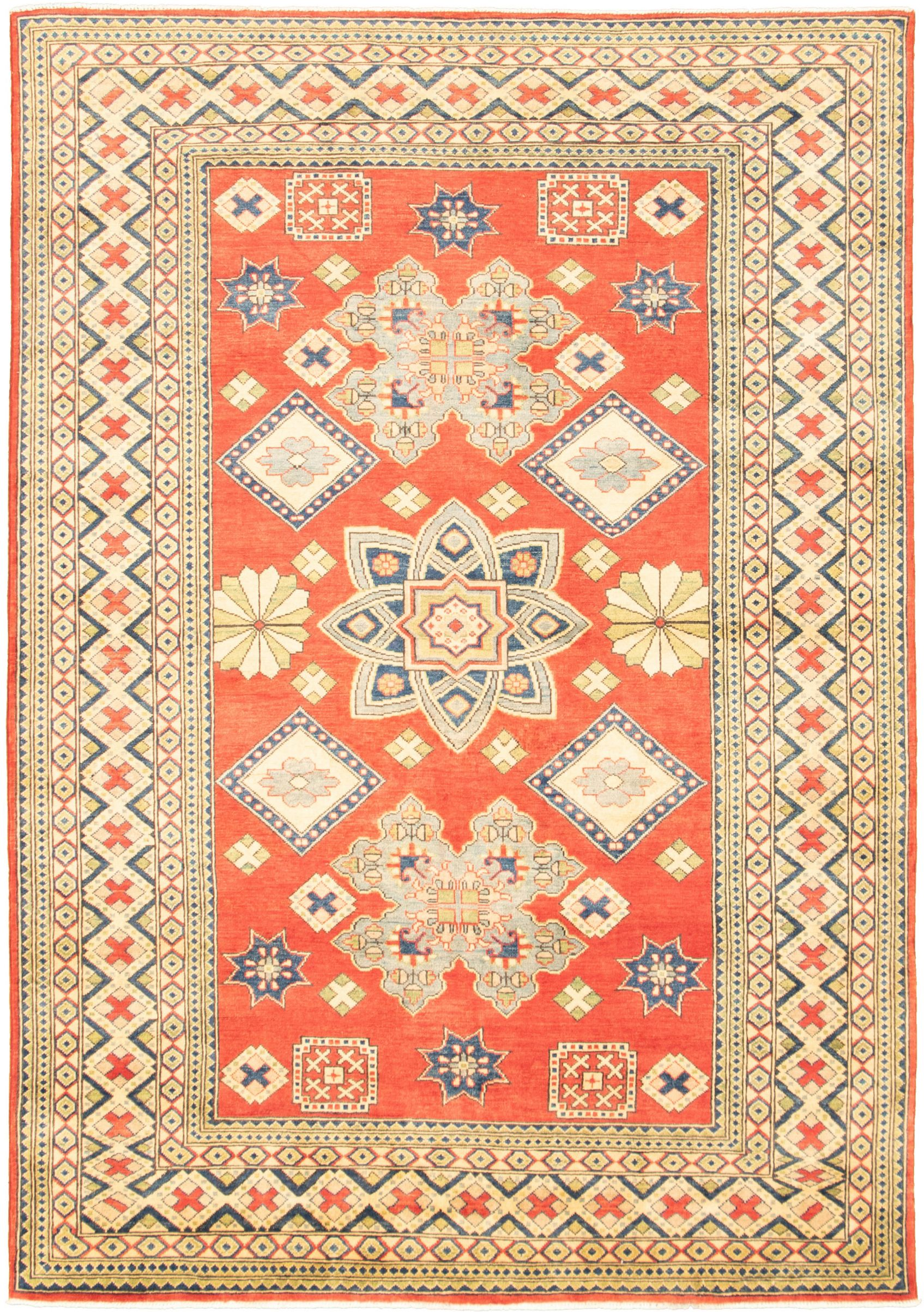 """Hand-knotted Finest Gazni Red  Rug 6'7"""" x 9'6"""" Size: 6'7"""" x 9'6"""""""
