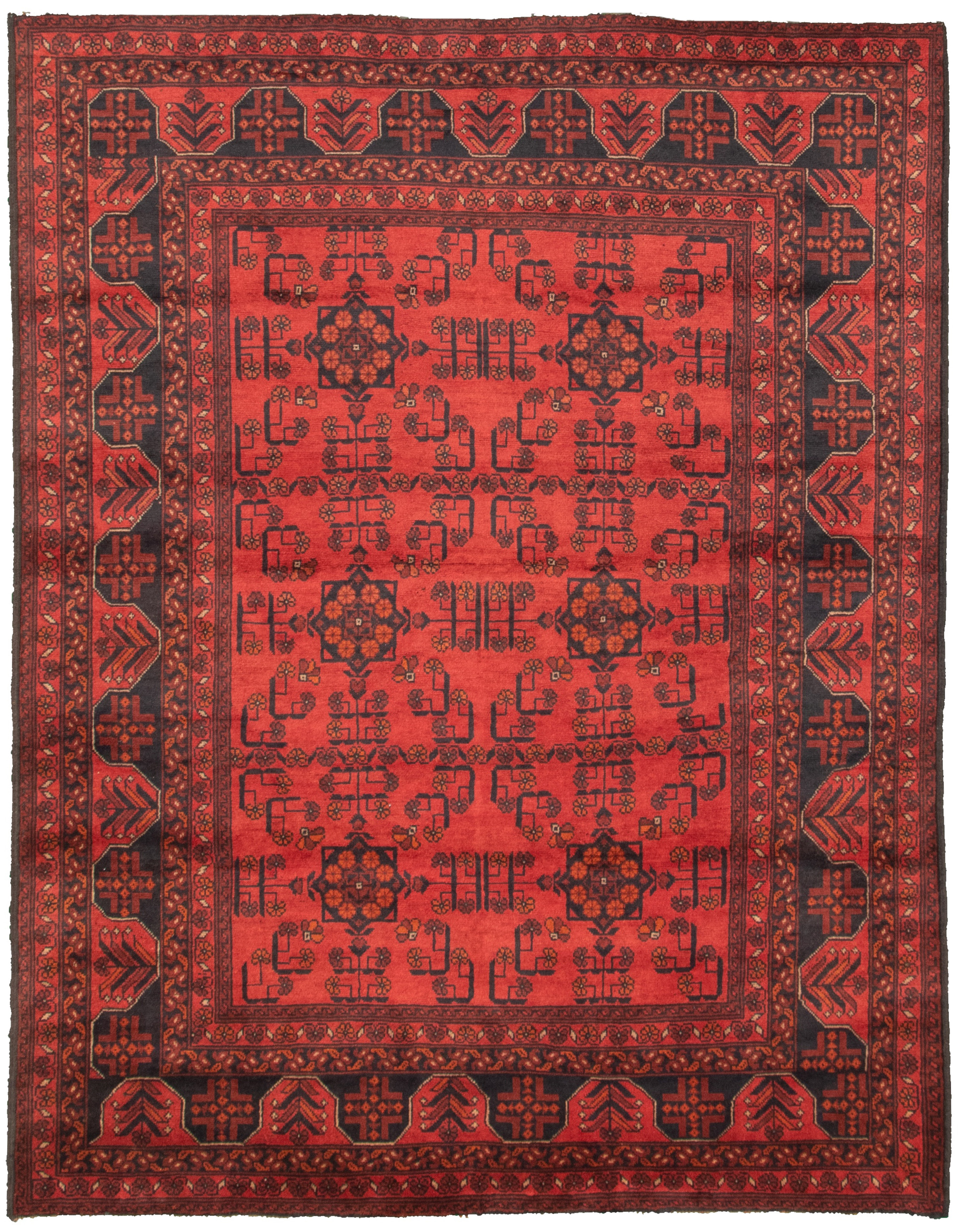 """Hand-knotted Finest Khal Mohammadi Red  Rug 5'8"""" x 7'6""""  Size: 5'8"""" x 7'6"""""""