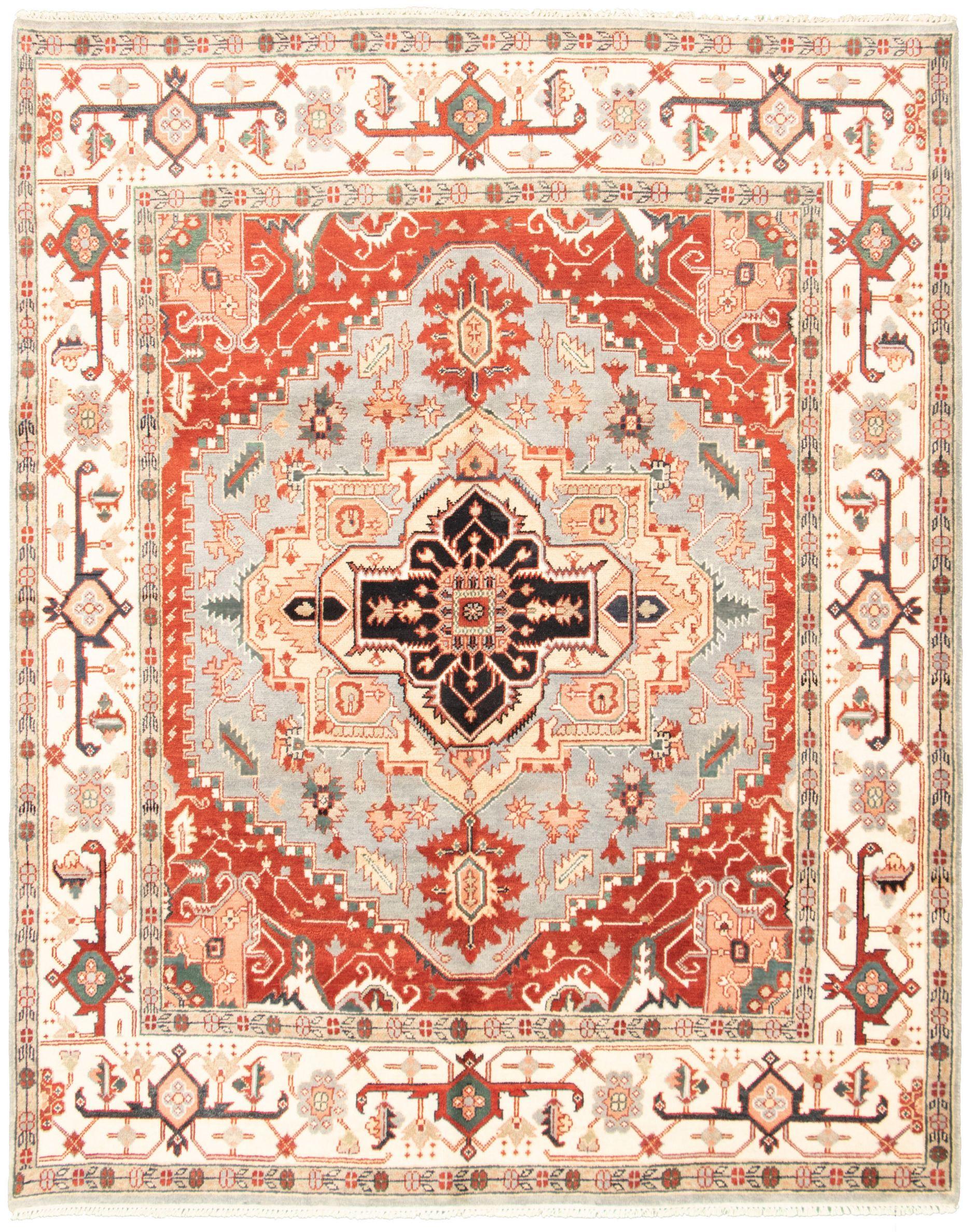 "Hand-knotted Serapi Heritage I Light Denim Blue Wool Rug 7'11"" x 9'11"" Size: 7'11"" x 9'11"""