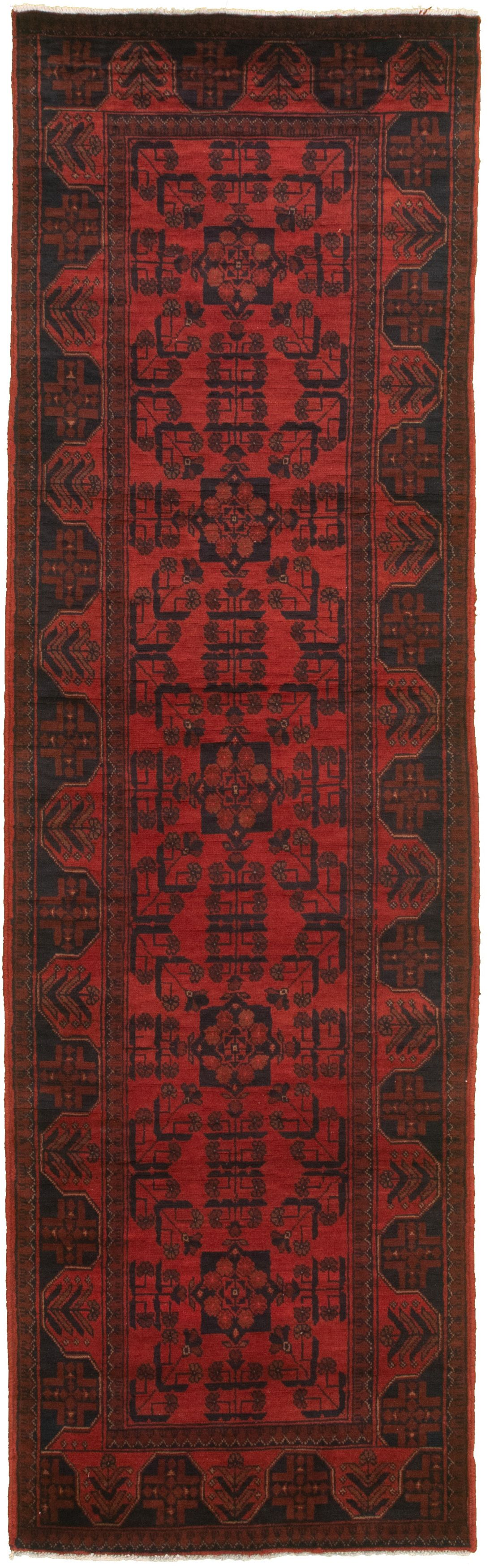 """Hand-knotted Finest Khal Mohammadi Red  Rug 2'11"""" x 9'8"""" Size: 2'11"""" x 9'8"""""""