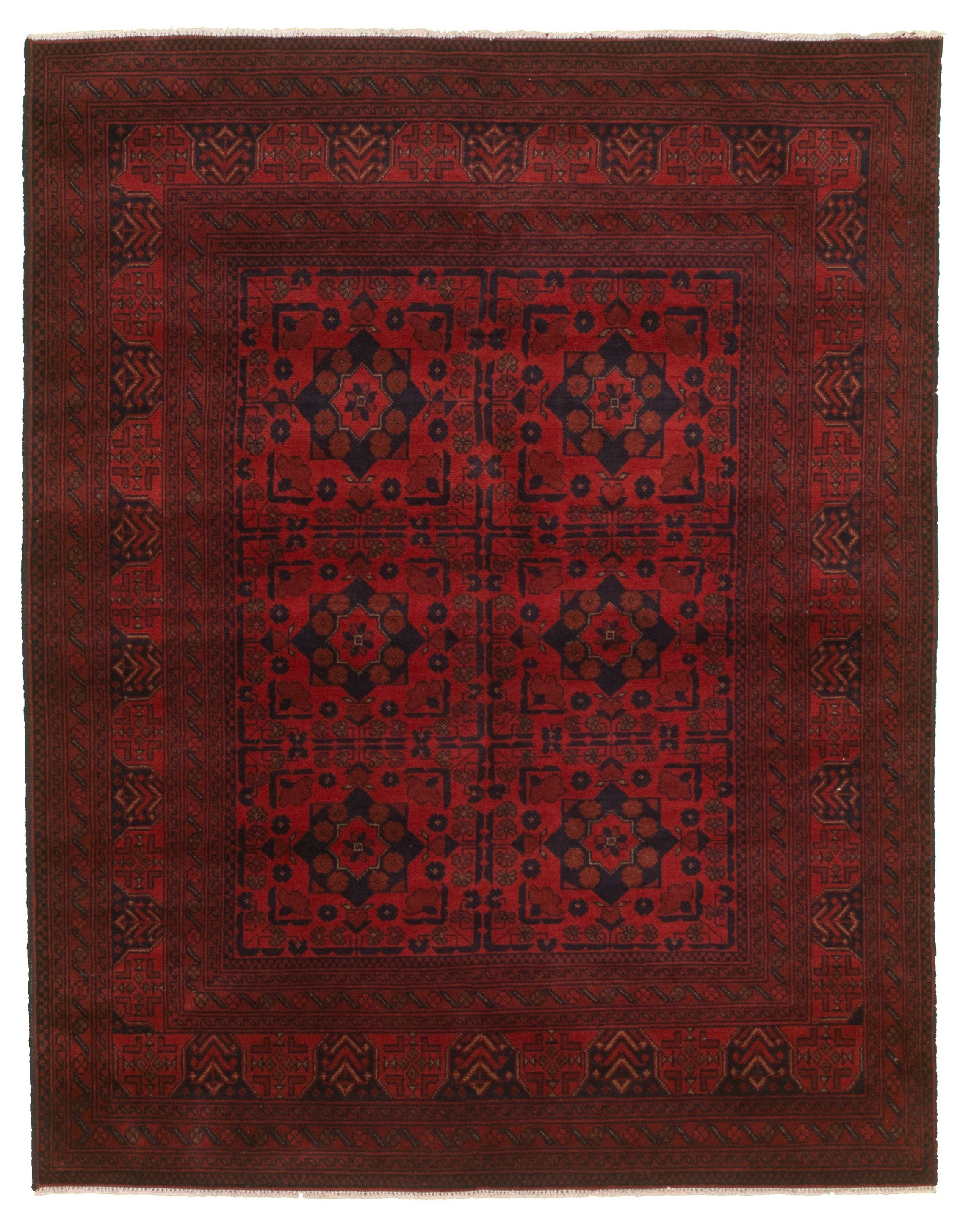 """Hand-knotted Finest Khal Mohammadi Red  Rug 5'1"""" x 6'6""""  Size: 5'1"""" x 6'6"""""""