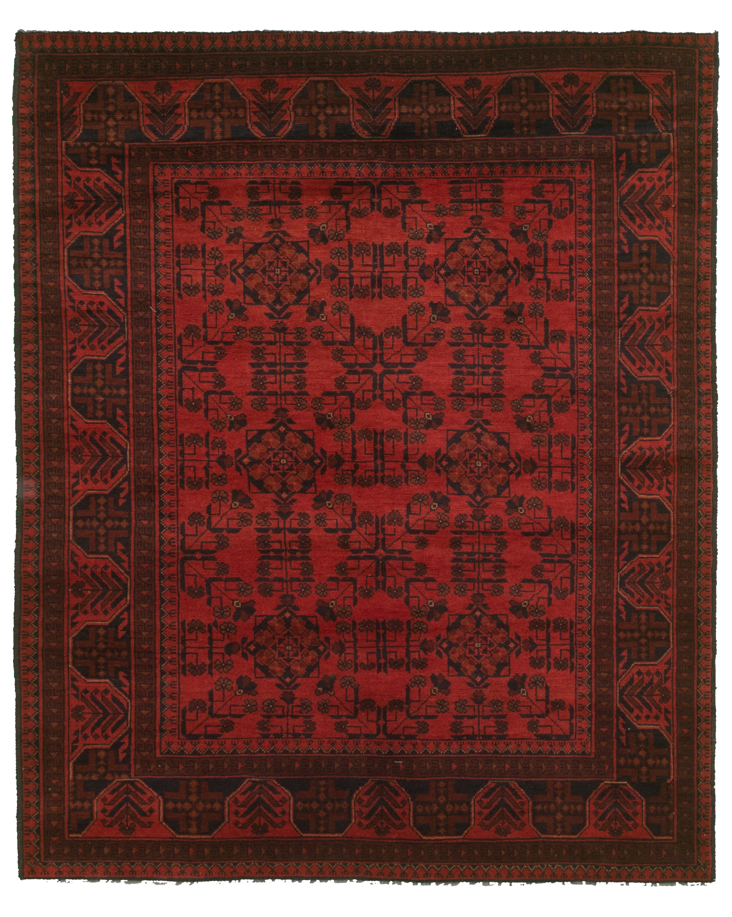 """Hand-knotted Finest Khal Mohammadi Red  Rug 5'2"""" x 6'6""""  Size: 5'2"""" x 6'6"""""""