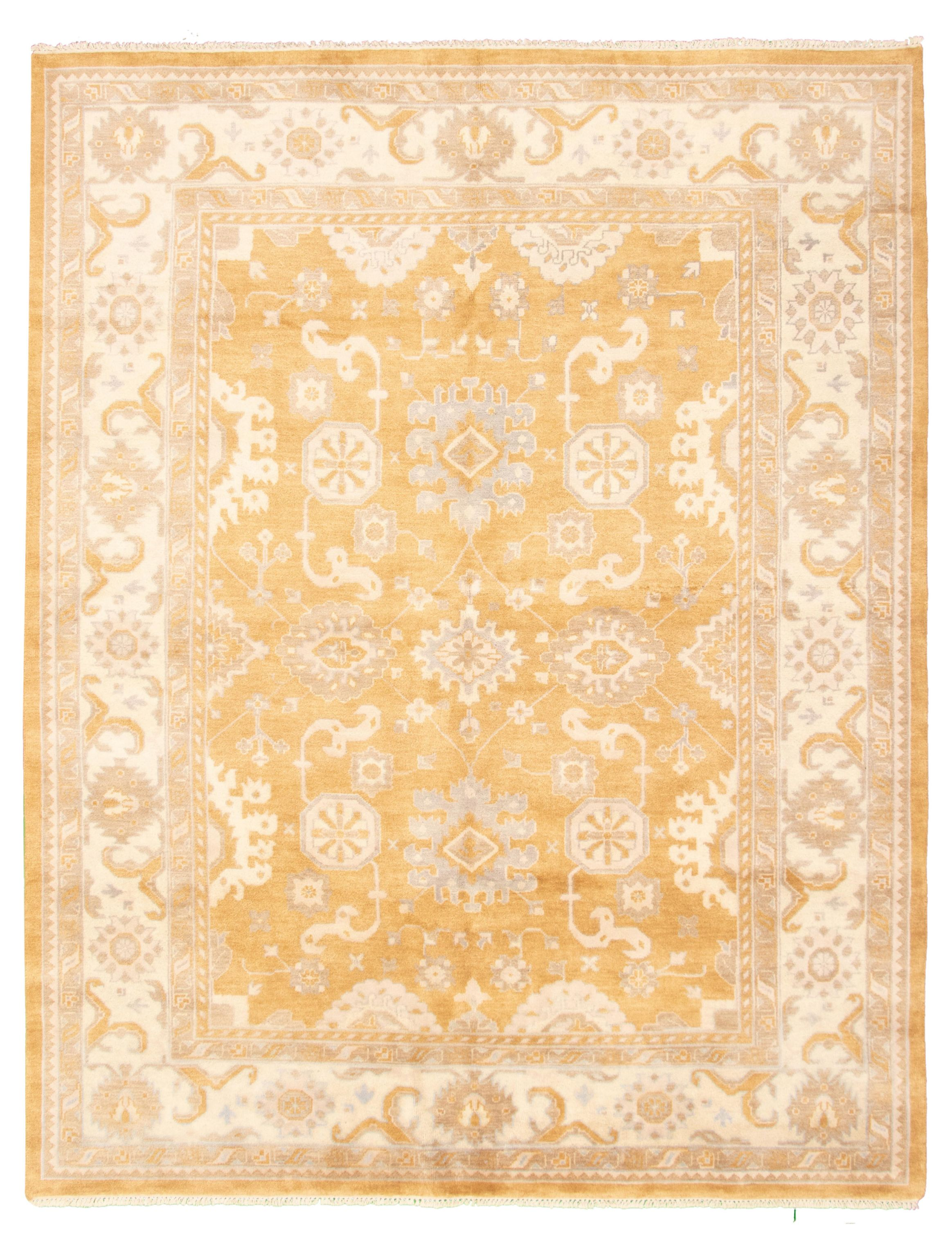 """Hand-knotted Royal Ushak Light Brown Wool Rug 9'2"""" x 11'8"""" Size: 9'2"""" x 11'8"""""""