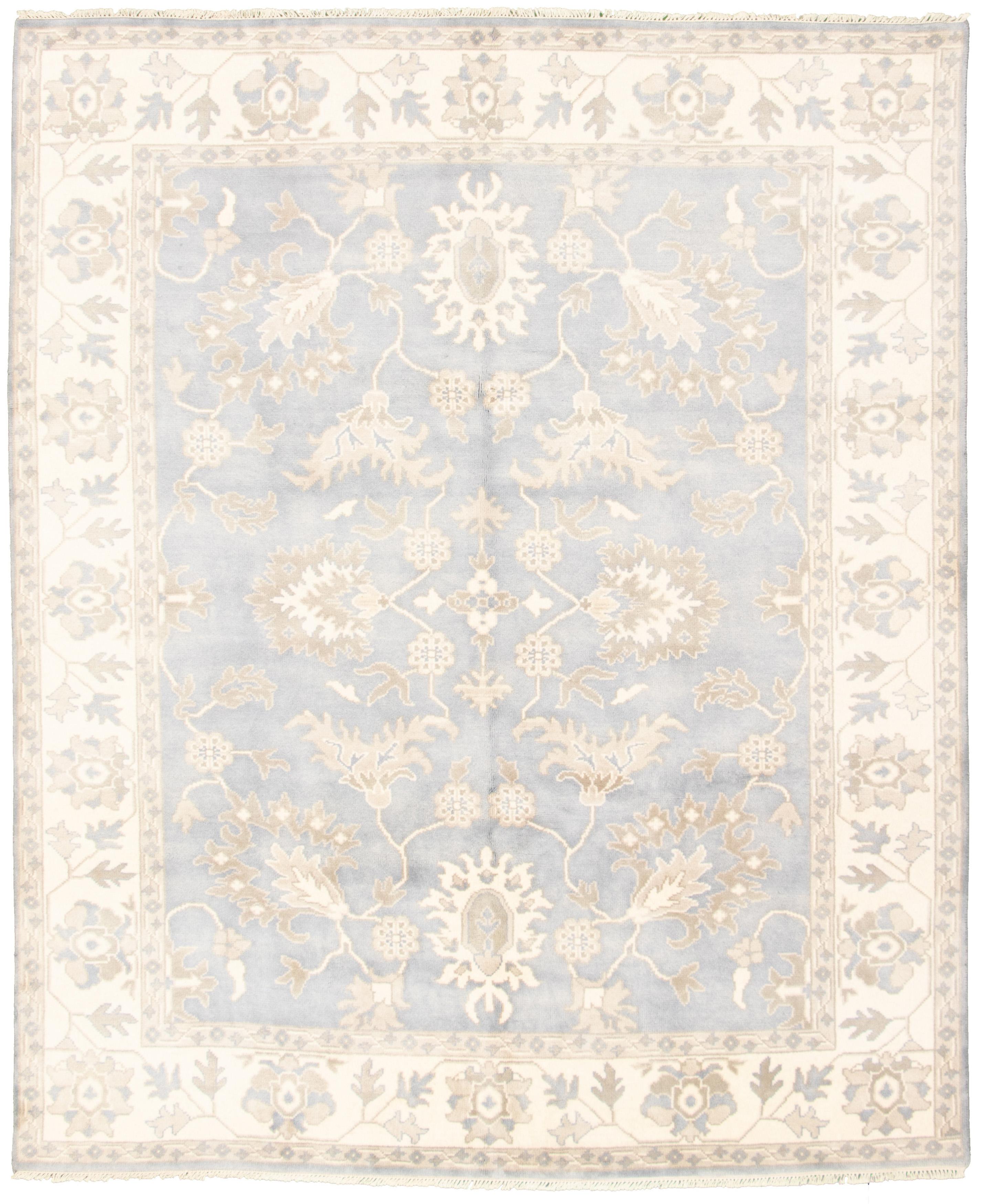 "Hand-knotted Royal Ushak Light Denim Blue Wool Rug 8'2"" x 10'0""  Size: 8'2"" x 10'0"""