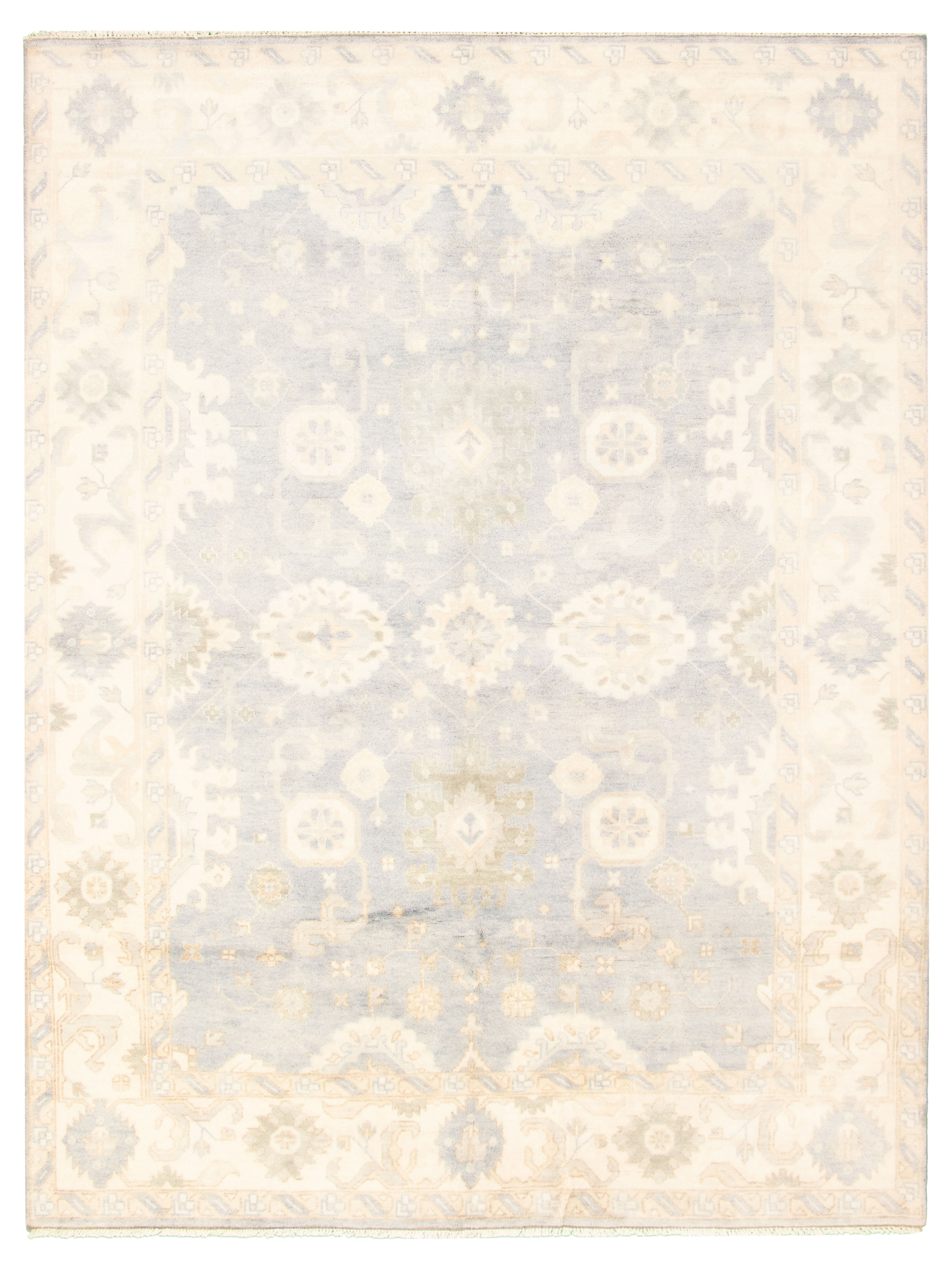 "Hand-knotted Royal Ushak Light Denim Blue Wool Rug 9'0"" x 11'8"" Size: 9'0"" x 11'8"""
