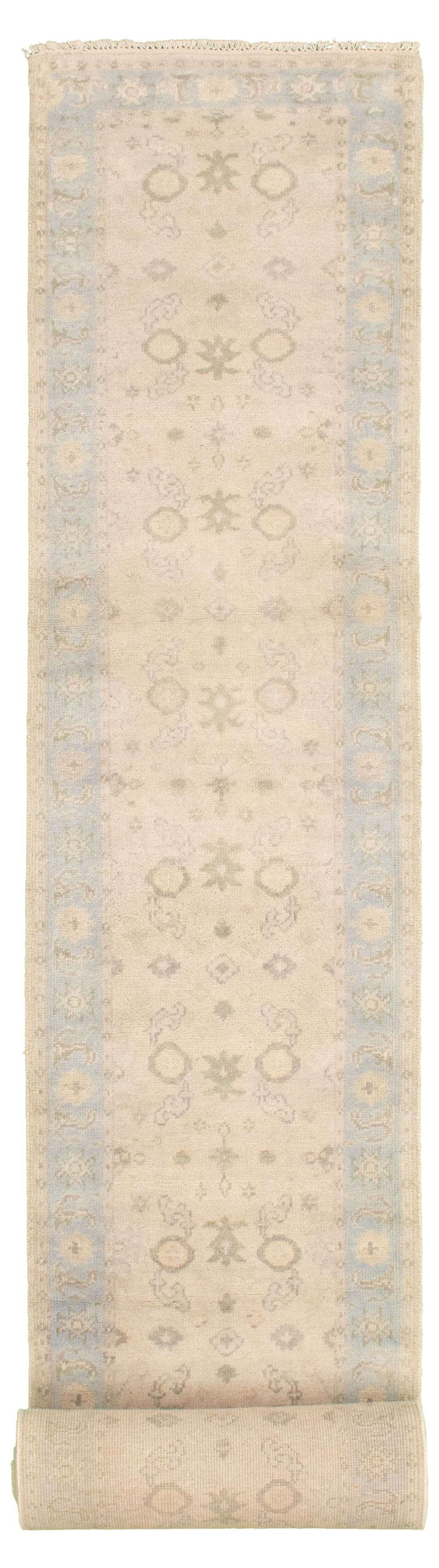 """Hand-knotted Royal Ushak Beige Wool Rug 2'7"""" x 19'7"""" Size: 2'7"""" x 19'7"""""""