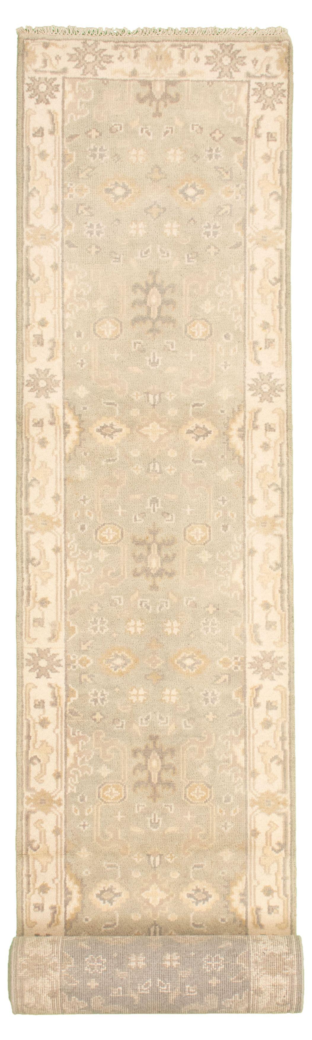 """Hand-knotted Royal Ushak Light Khaki Wool Rug 2'8"""" x 19'4"""" Size: 2'8"""" x 19'4"""""""