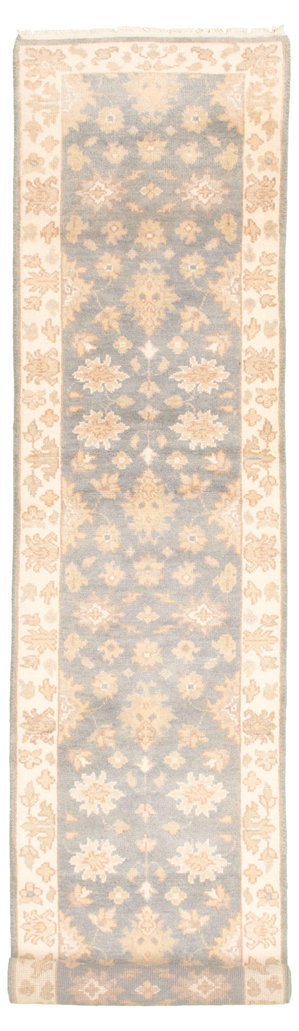 "Hand-knotted Royal Ushak Light Denim Blue Wool Rug 2'6"" x 11'9"" Size: 2'6"" x 11'9"""