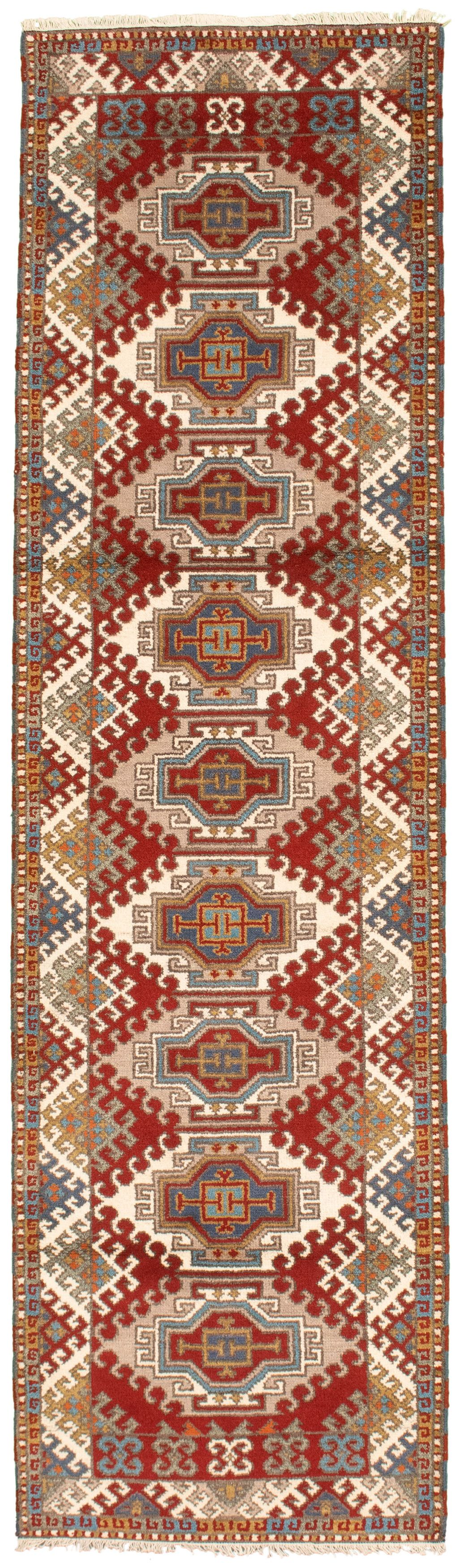 "Hand-knotted Royal Kazak Red Wool Rug 2'9"" x 10'0""  Size: 2'9"" x 10'0"""