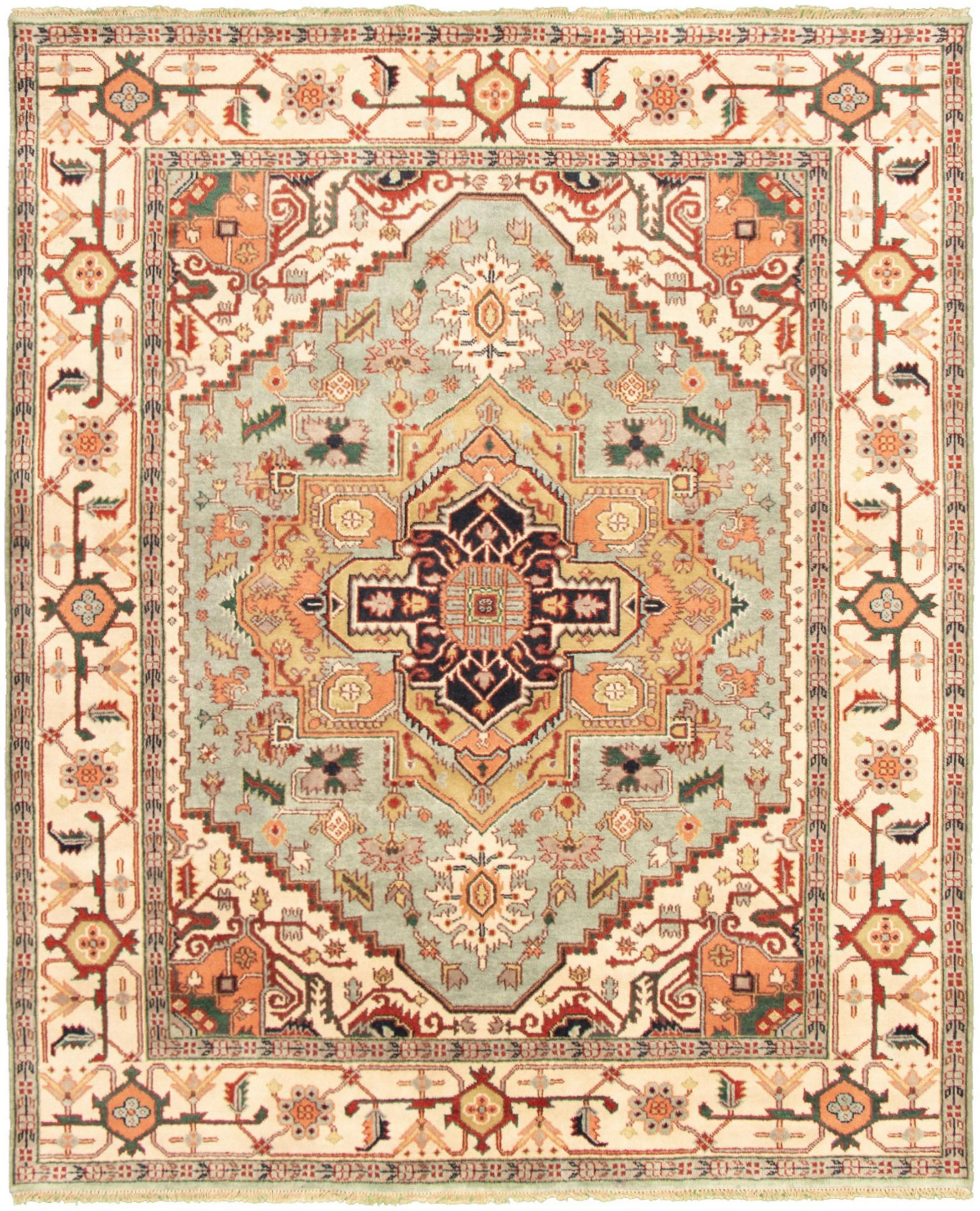 """Hand-knotted Serapi Heritage I Light Blue  Wool Rug 8'0"""" x 9'9"""" Size: 8'0"""" x 9'9"""""""