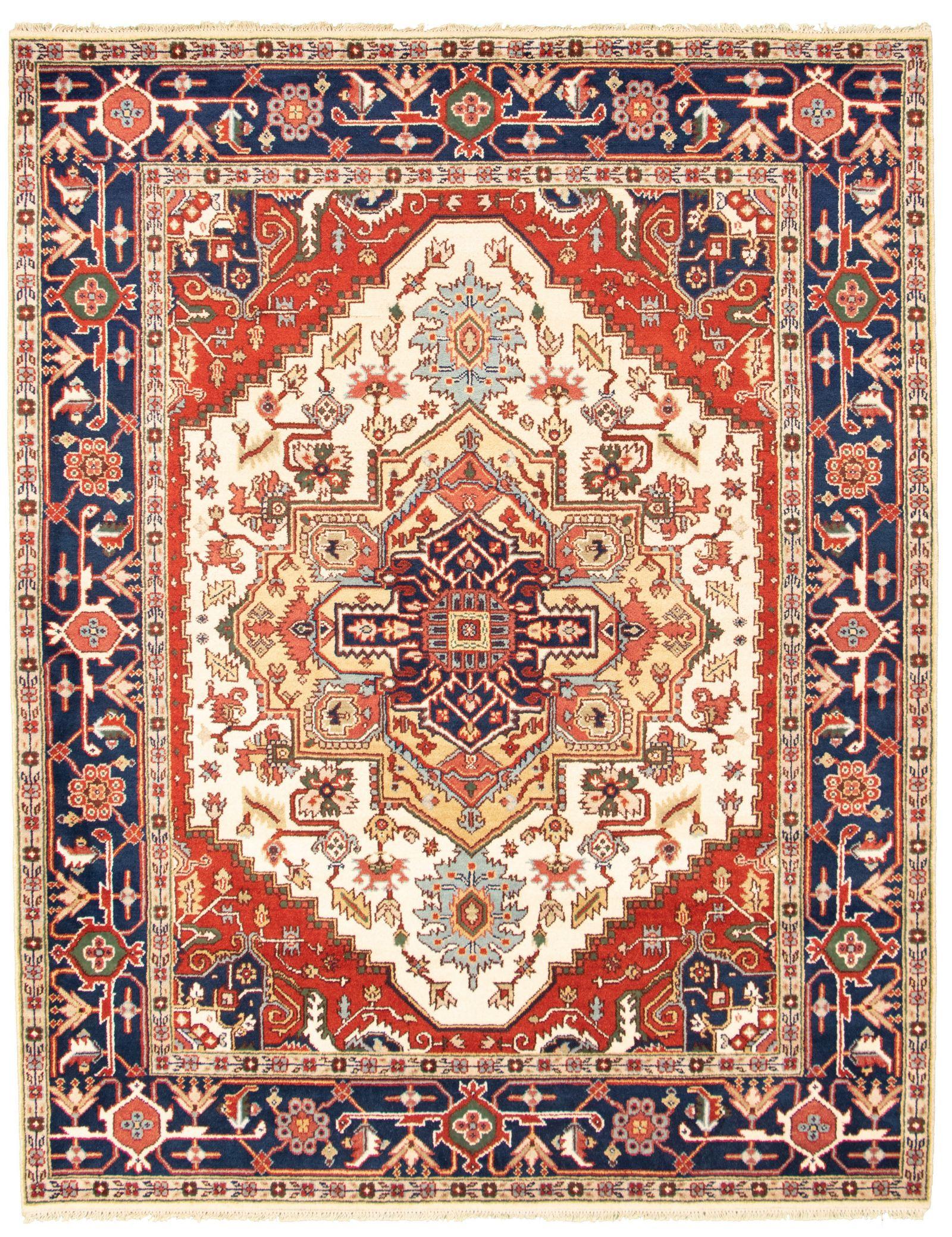 "Hand-knotted Serapi Heritage I Cream Wool Rug 8'11"" x 12'0"" Size: 8'11"" x 12'0"""