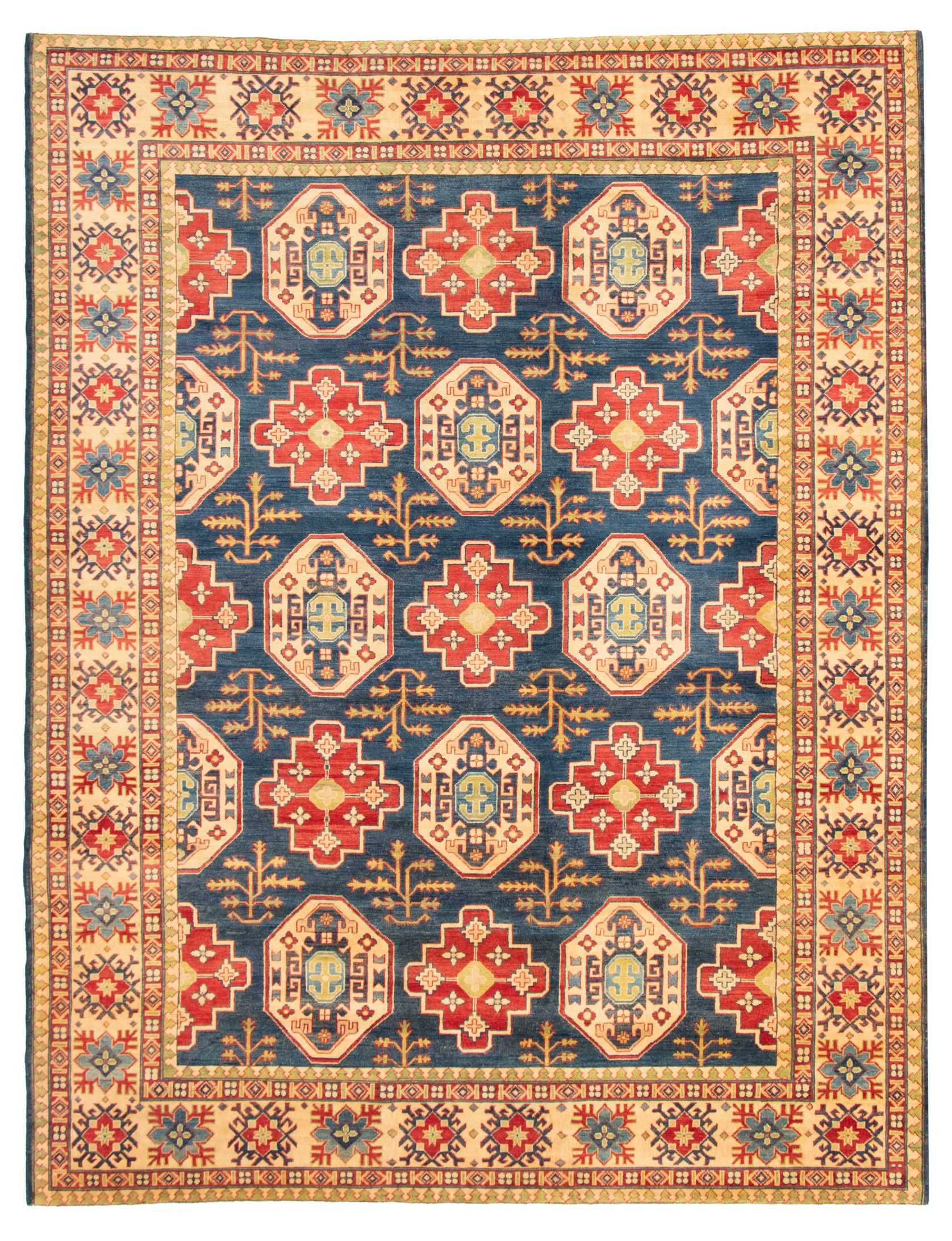 """Hand-knotted Finest Gazni Navy Blue  Rug 9'10"""" x 12'10"""" Size: 9'10"""" x 12'10"""""""