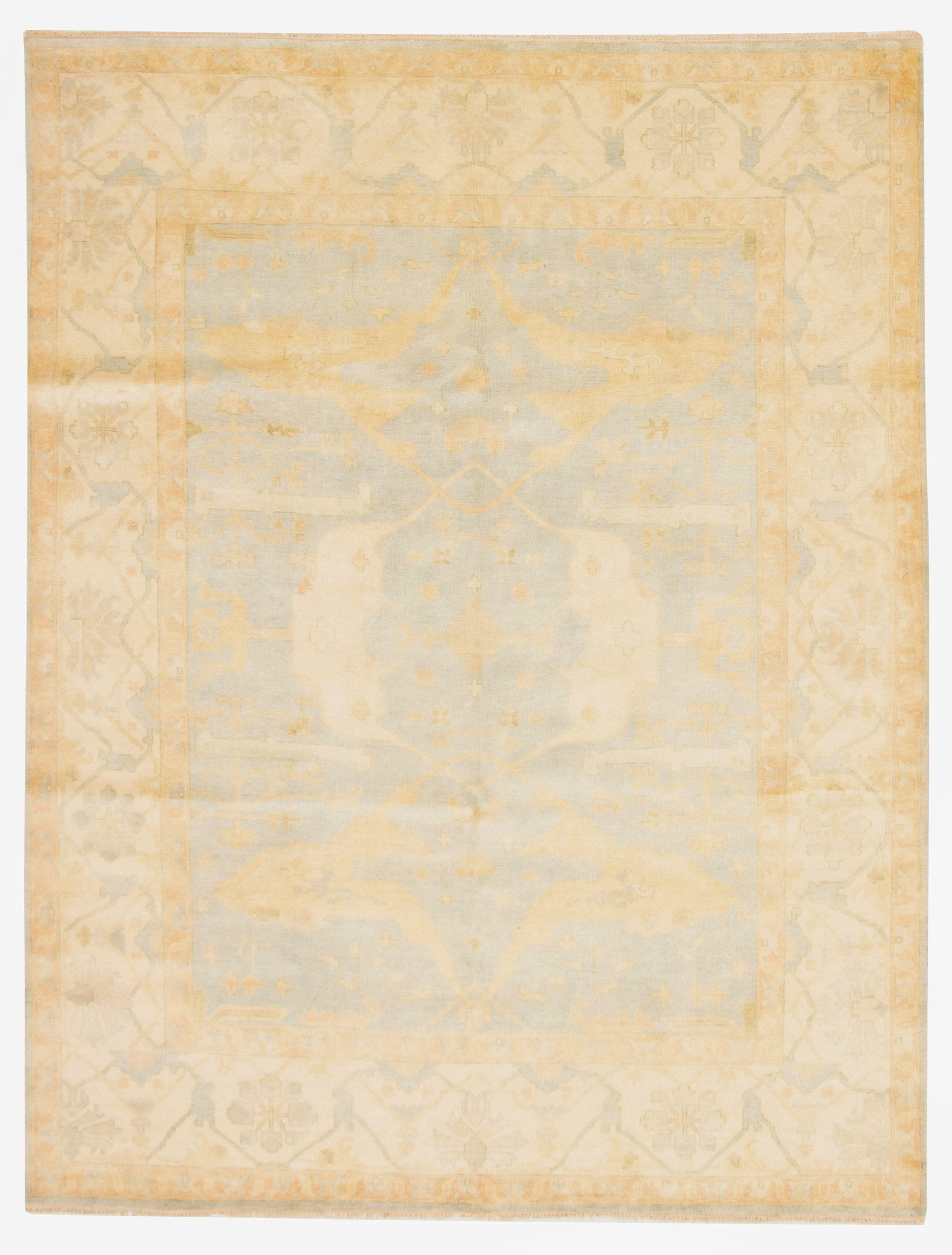 "Hand-knotted Royal Ushak Light Blue  Wool Rug 9'4"" x 12'3"" Size: 9'4"" x 12'3"""