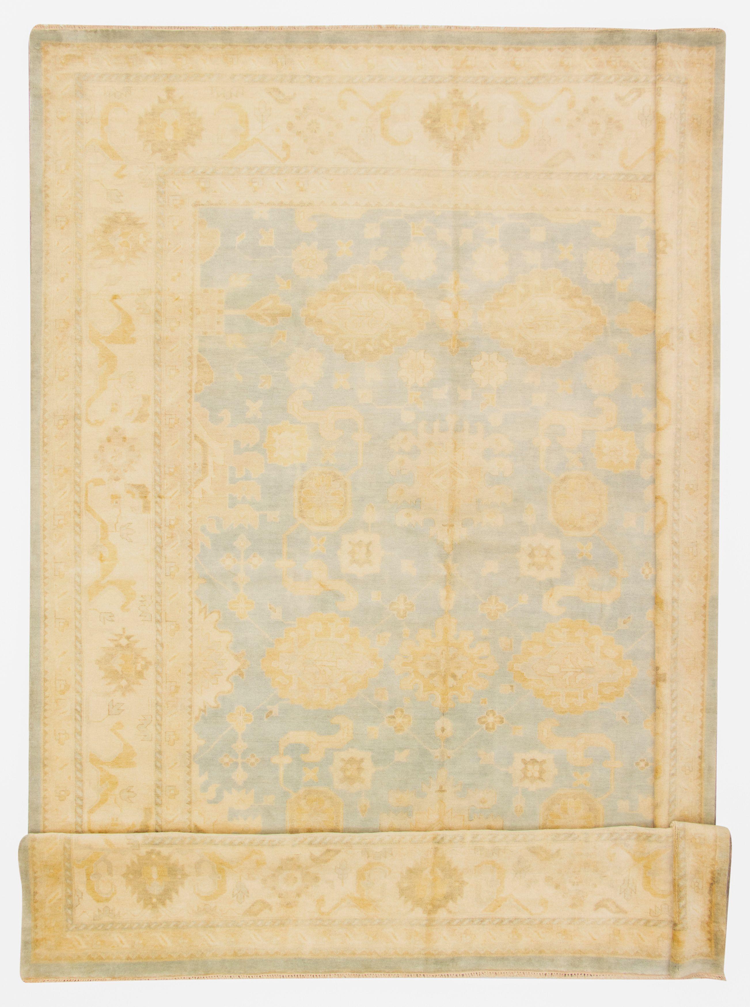"Hand-knotted Royal Ushak Light Blue  Wool Rug 11'5"" x 17'6"" Size: 11'5"" x 17'6"""
