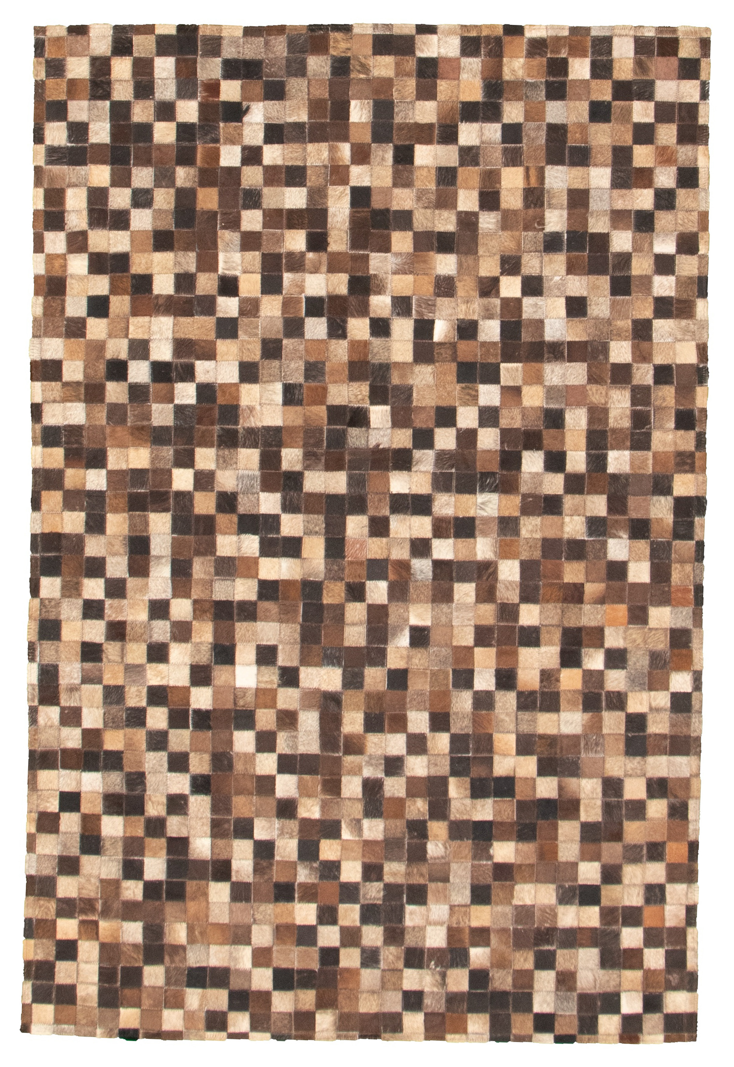 "Handmade Cowhide Patchwork Dark Brown  Rug 3'11"" x 5'10"" Size: 3'11"" x 5'10"""